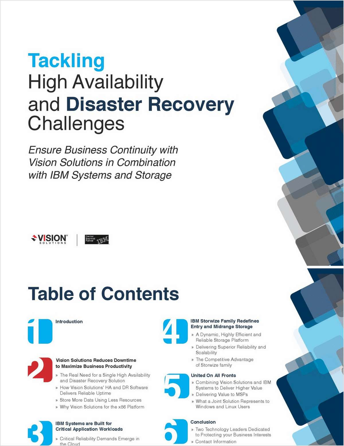 Ensure Business Continuity with Vision Solutions in Combination with IBM Systems and Storage