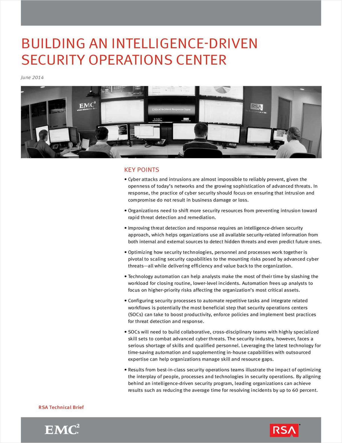 Building an Intelligence-Driven Security Operations Center