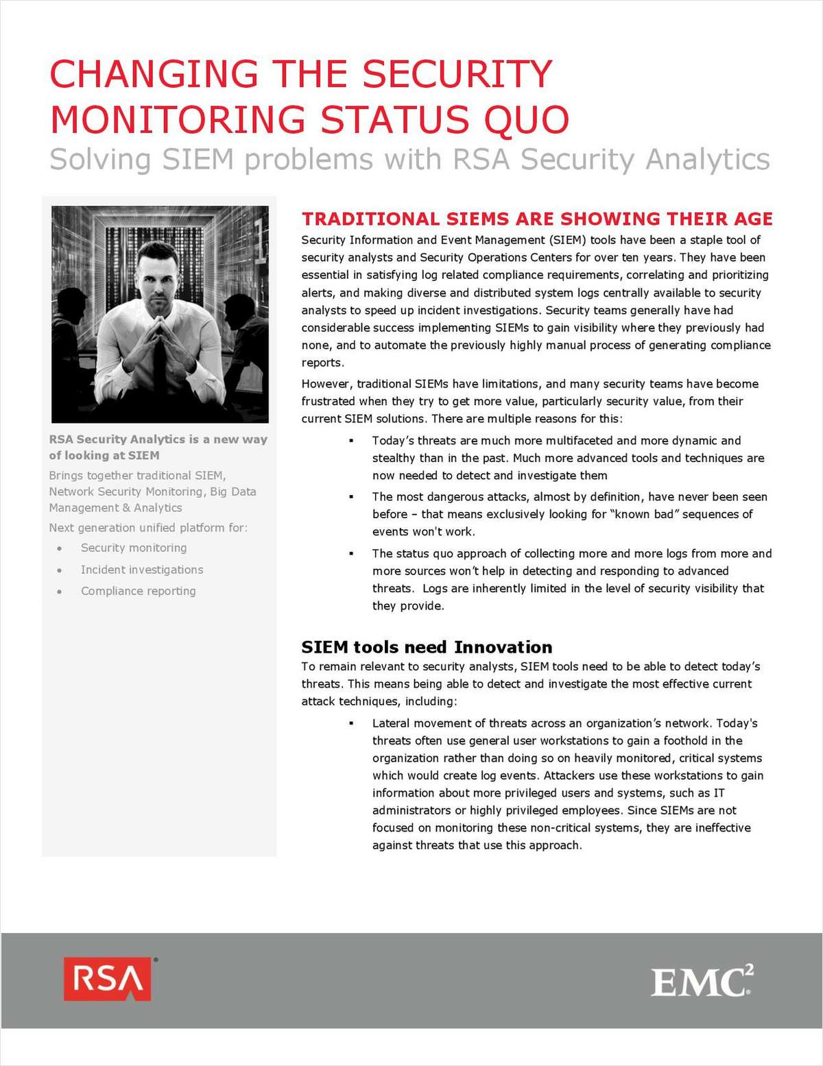 Changing the Security Monitoring Status Quo