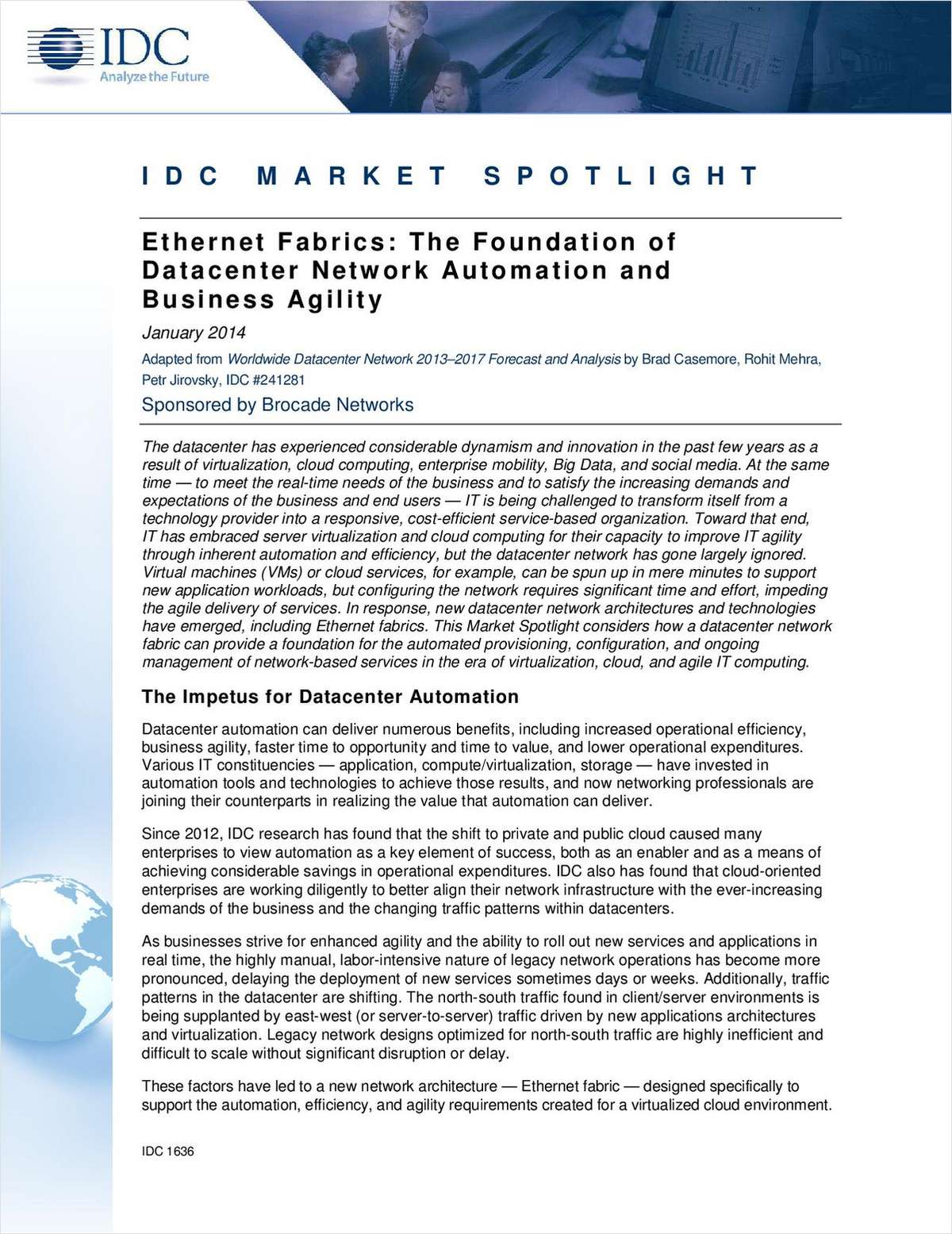 The IDC Market Spotlight on Network Automation and Agility