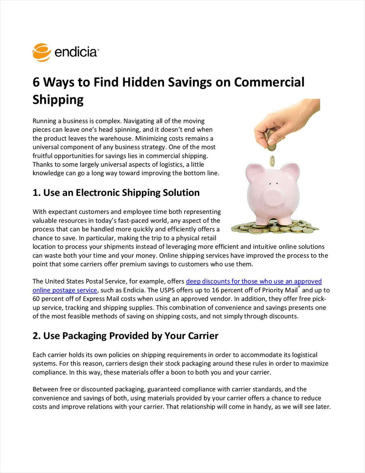 Six Ways to Find Hidden Savings on Commercial Shipping