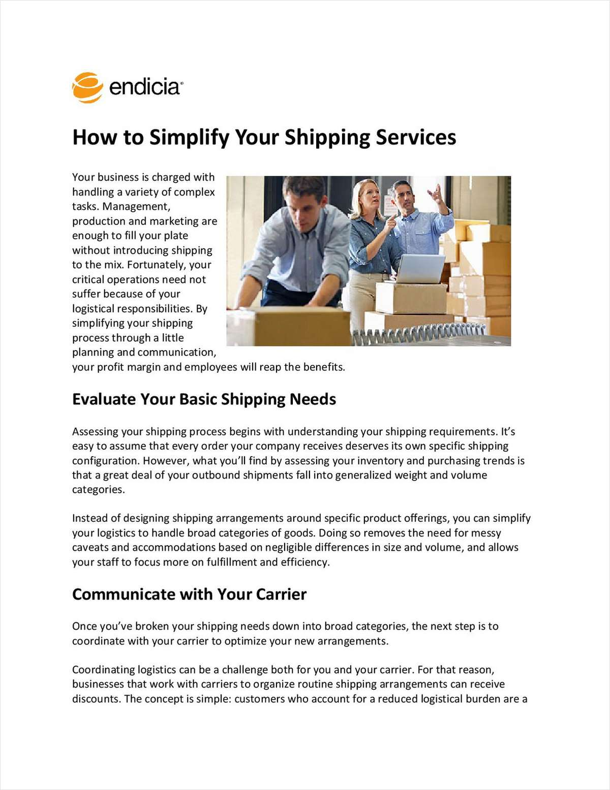 How to Simplify Your Shipping Services