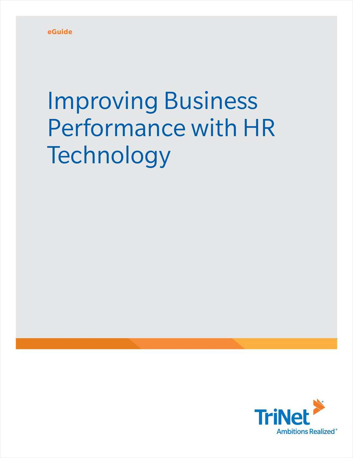Improving Business Performance with HR Technology