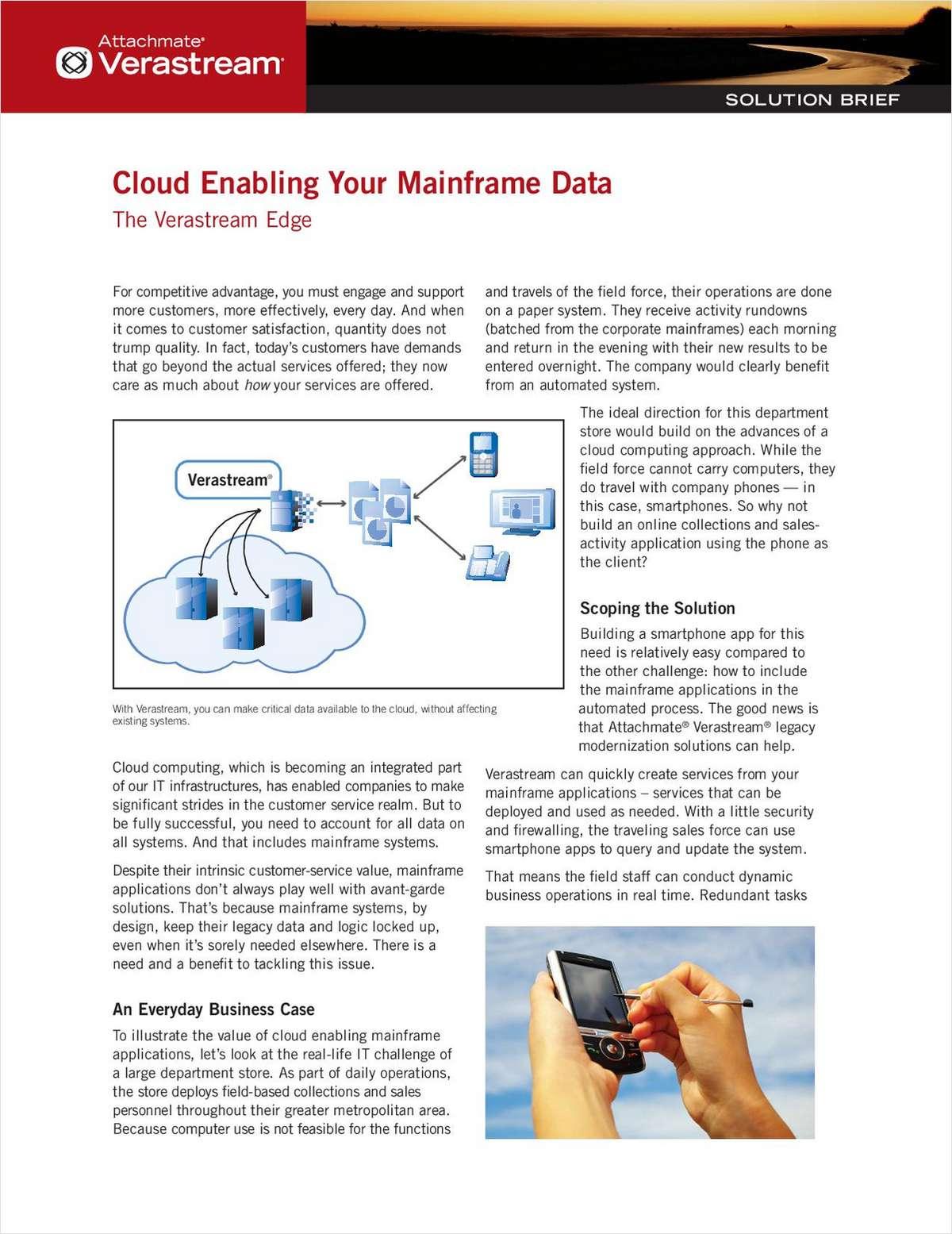 Cloud Enabling Your Mainframe Data: The Verastream Edge