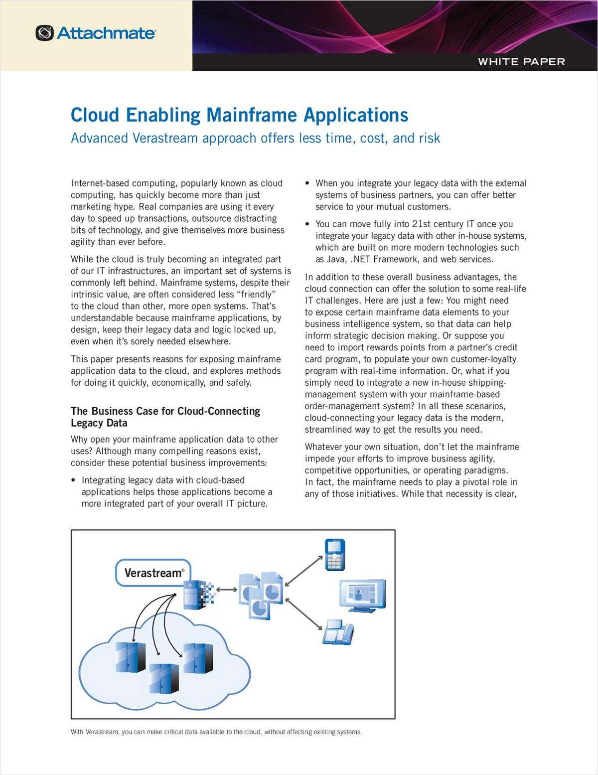 Cloud Enabling Mainframe Applications