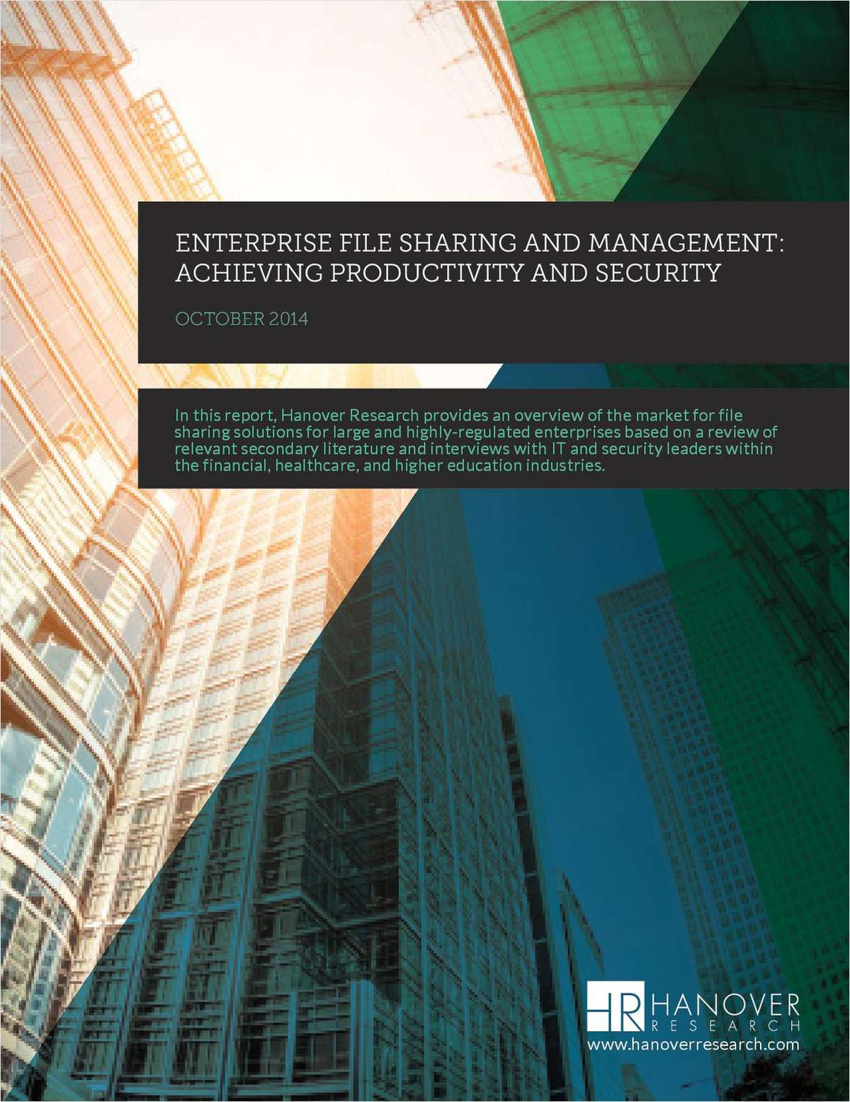 Enterprise File Sharing and Management: Achieving Productivity and Security