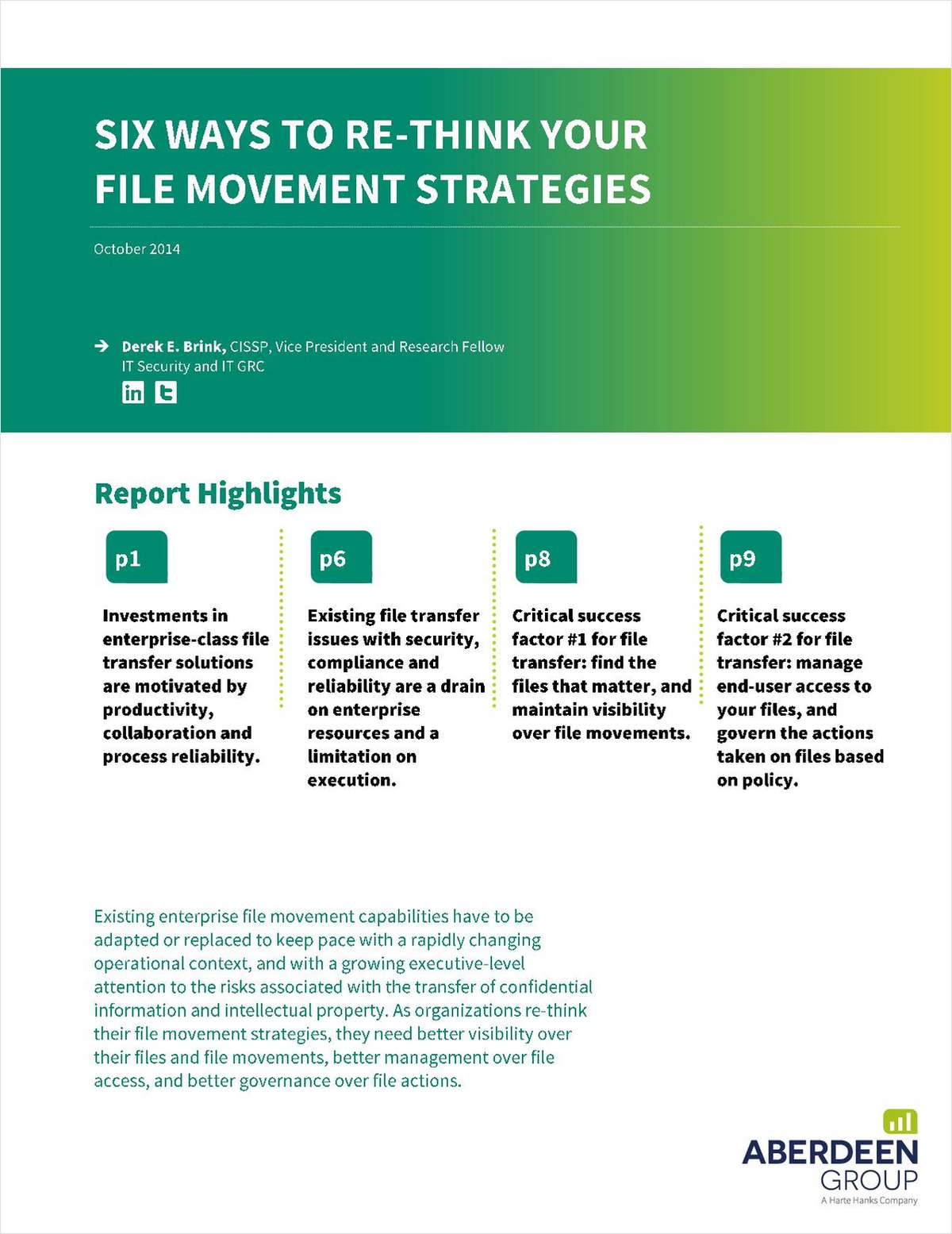 Six Ways To Re-Think Your File Movement Strategies