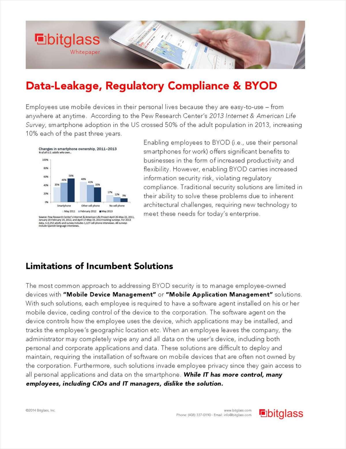 Data-Leakage, Regulatory Compliance & BYOD