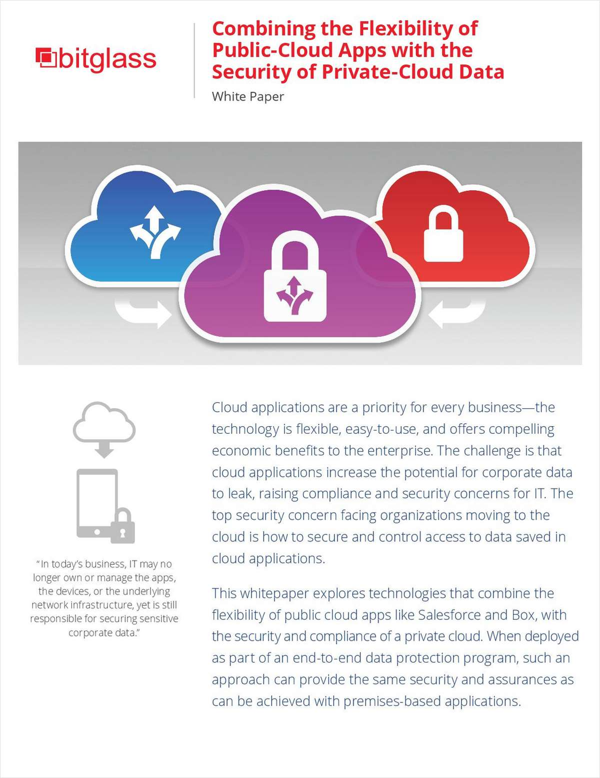 Combining The Flexibility Of Public Cloud Apps With Security Data Applications Private For Finance Industry Free Bitglass Inc White Paper