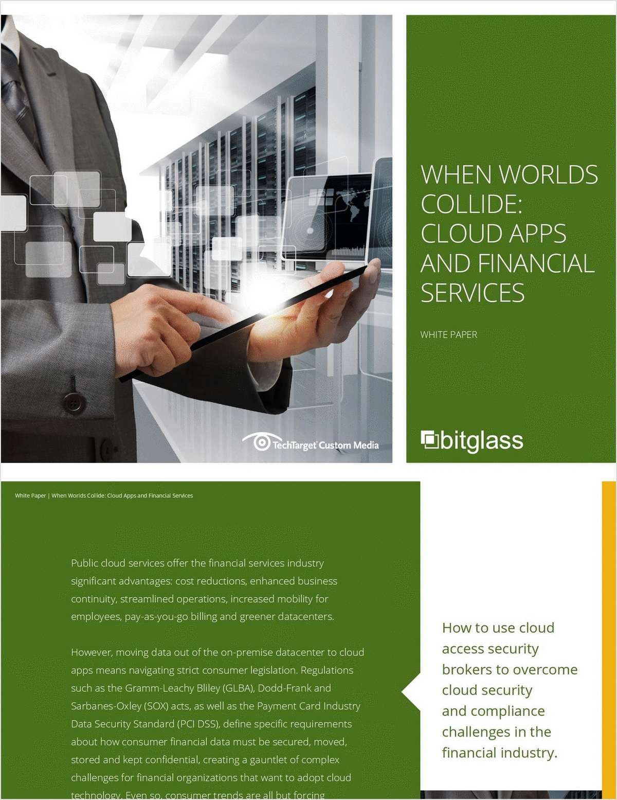When Worlds Collide: Cloud Apps and Financial Services