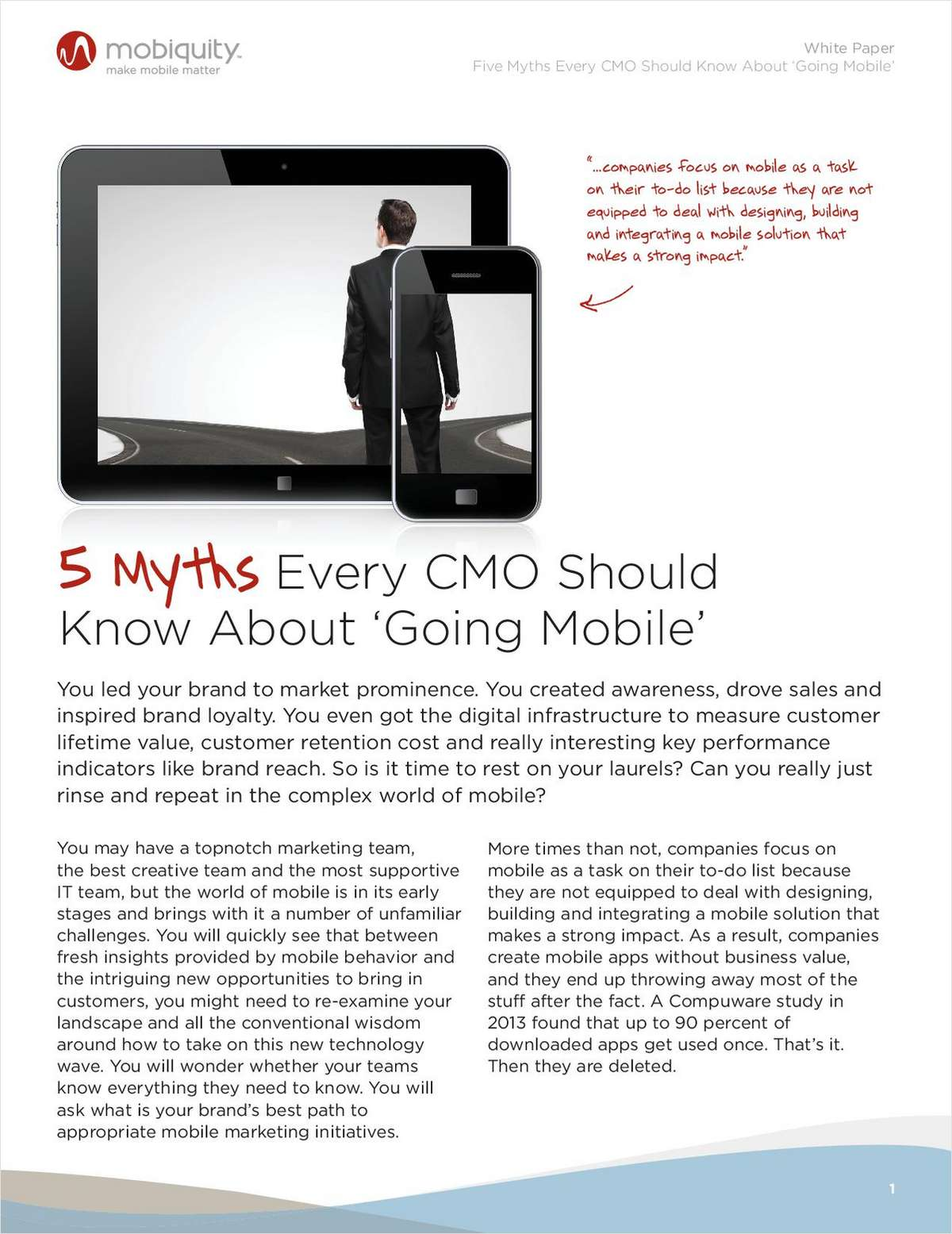 Five Lies Every CMO Should Know About Going Mobile