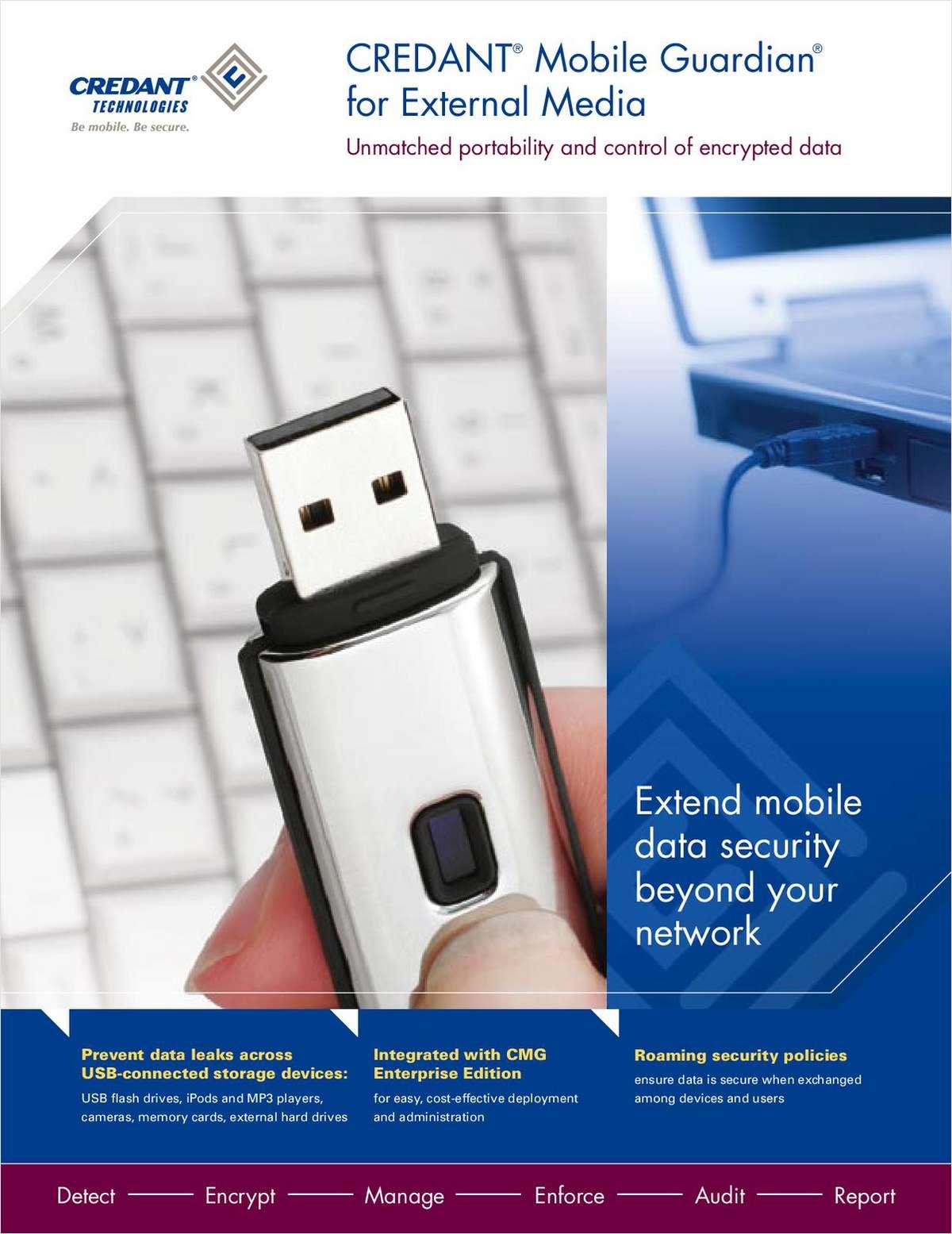 CREDANT® Mobile Guardian® External Media Shield