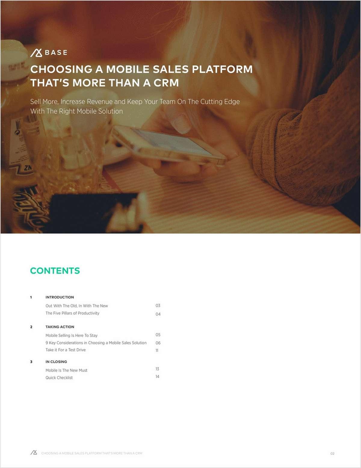 Choosing a Mobile Sales Platform That's More Than a CRM