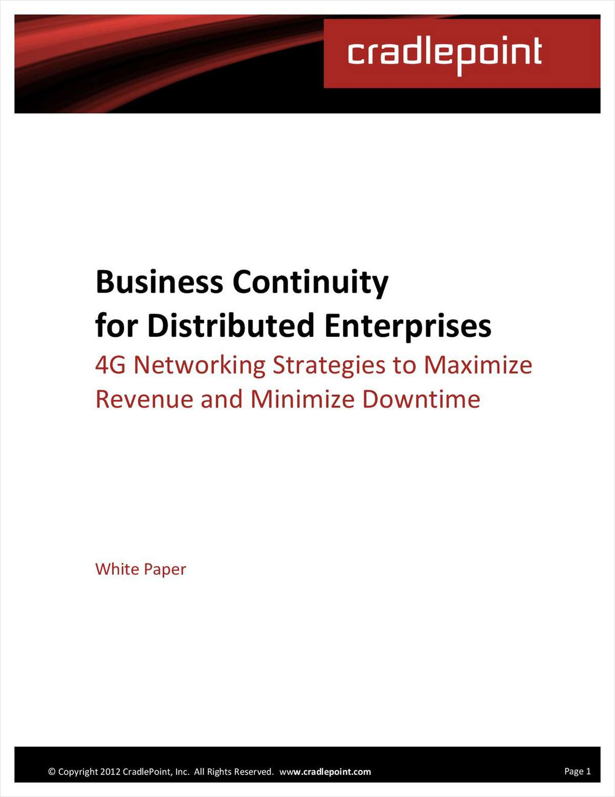 Uninterrupted Internet: Maximizing Revenue and Minimizing Business Risk with 3G/4G Failover