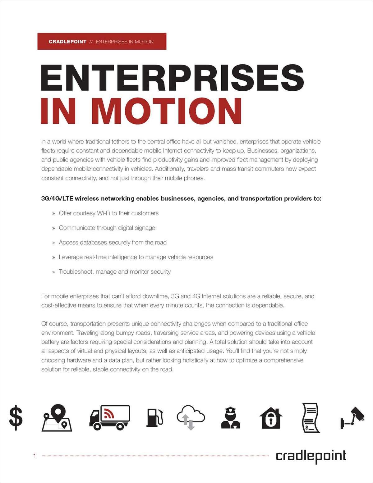 Enterprises in Motion: In-Vehicle Networks