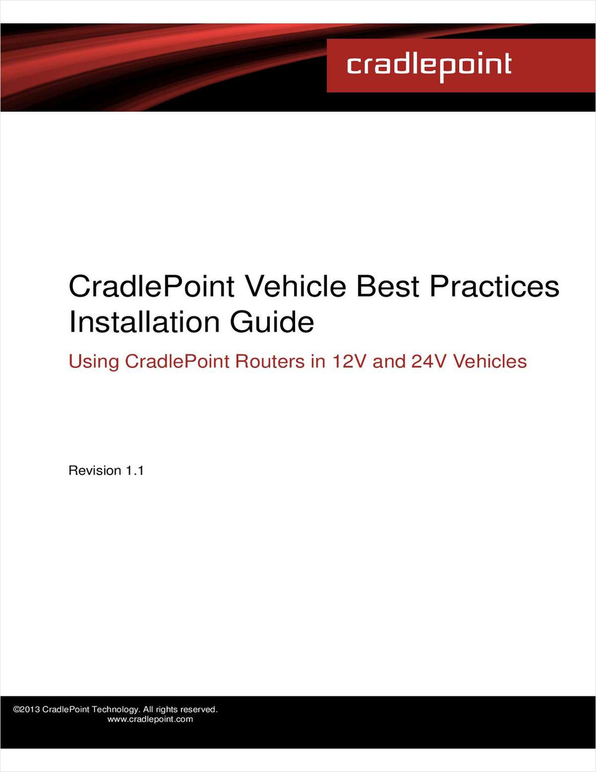 Vehicles Best Practices Installation Guide
