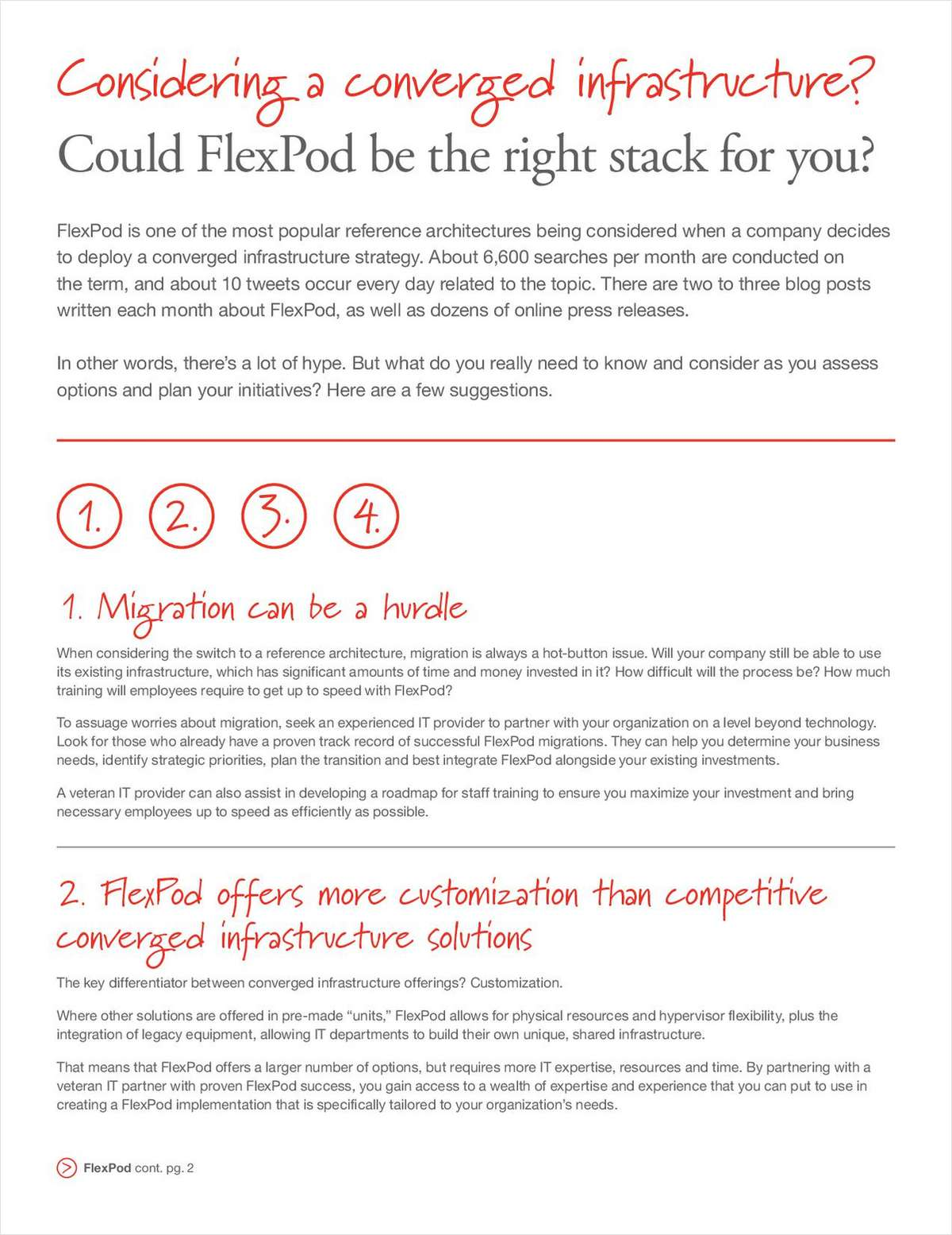 Considering a Converged Infrastructure? Could FlexPod be the Right Stack for You?