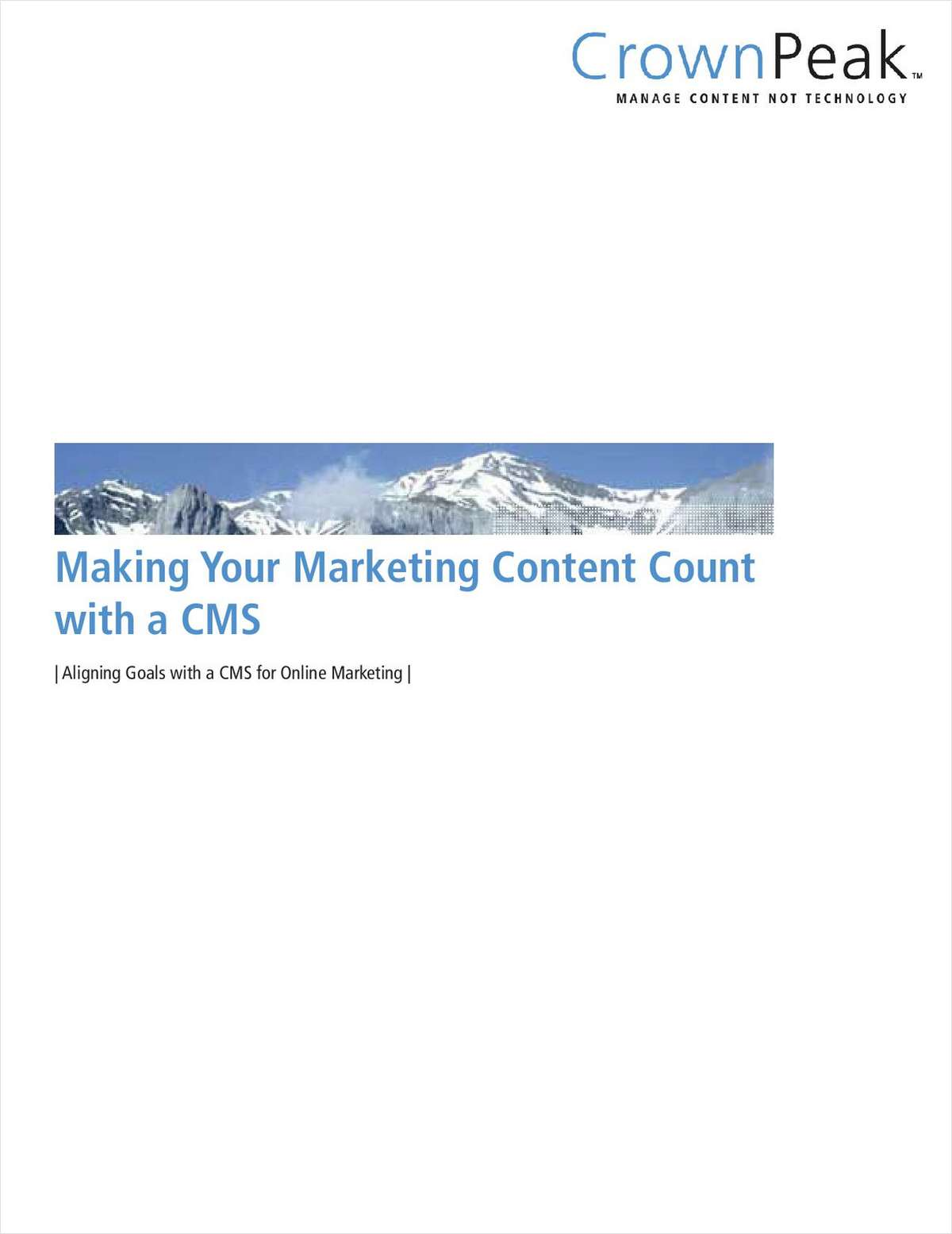 Making Your Marketing Content Count with a CMS