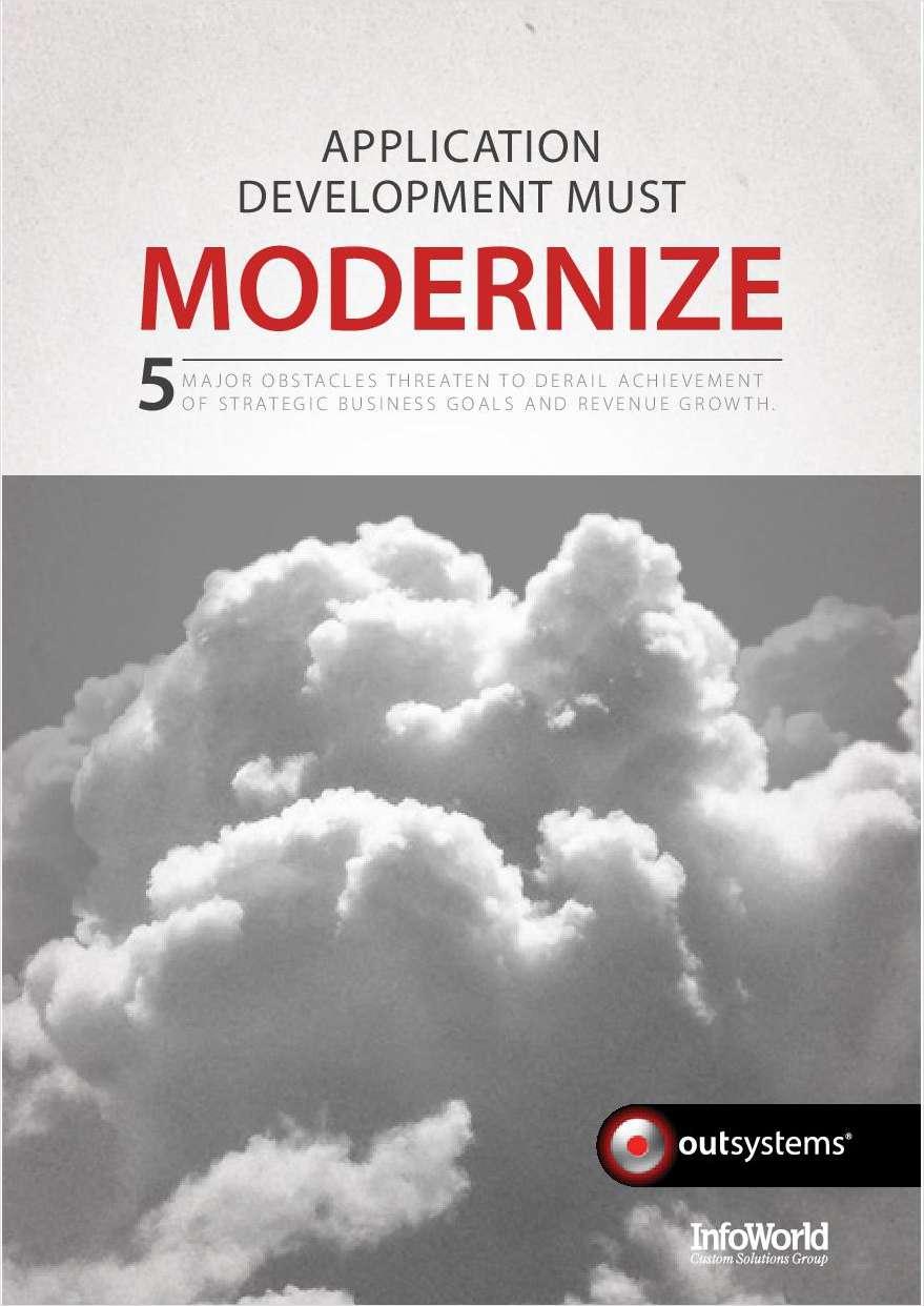 Application Development Must Modernize