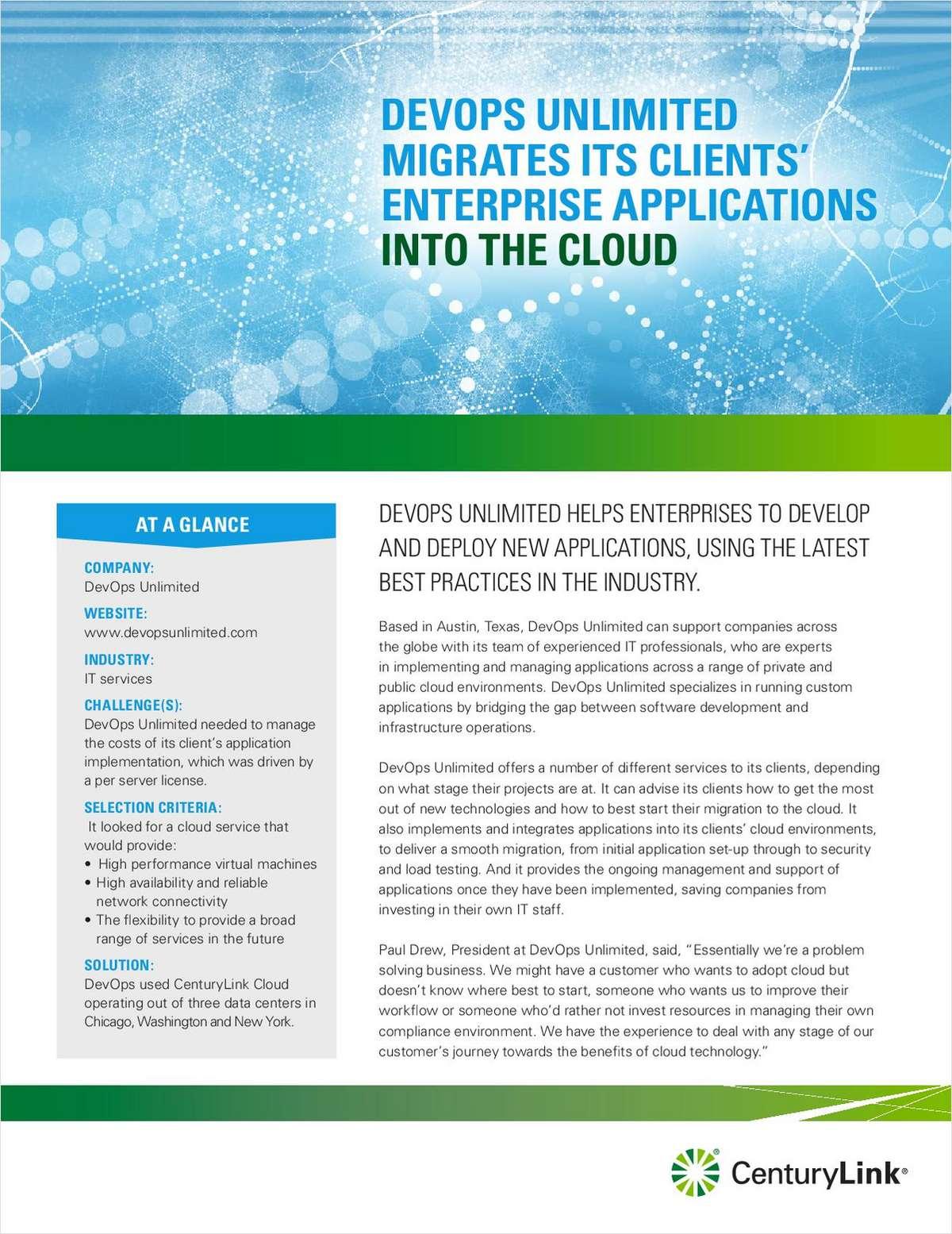 DevOps Unlimited Migrates Its Clients' Enterprise Applications to the Cloud