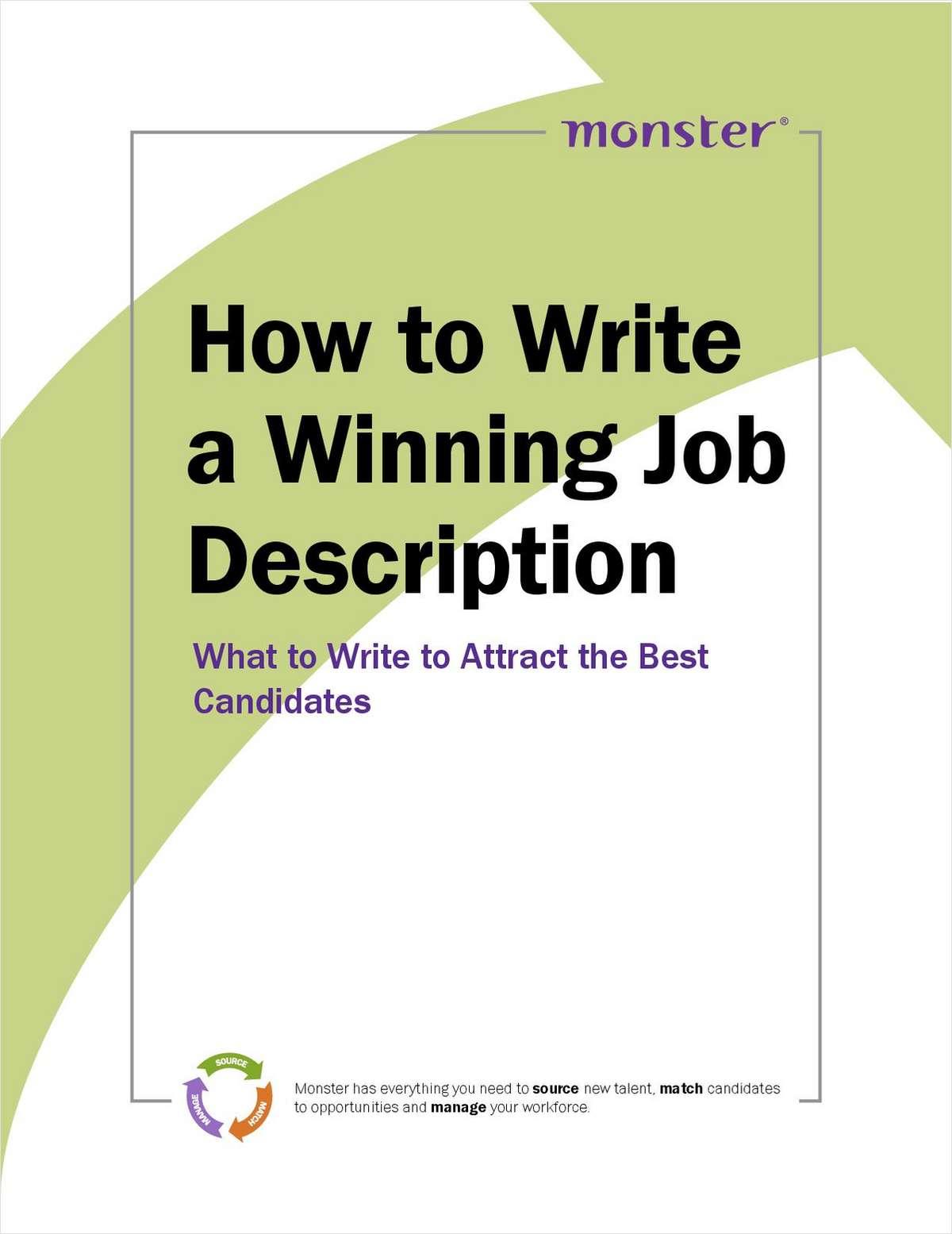 how to write up a job description