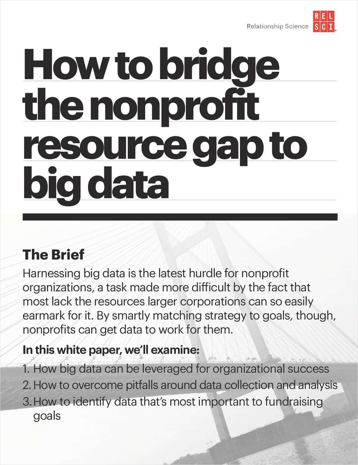 How to Bridge the Nonprofit Resource Gap to Big Data