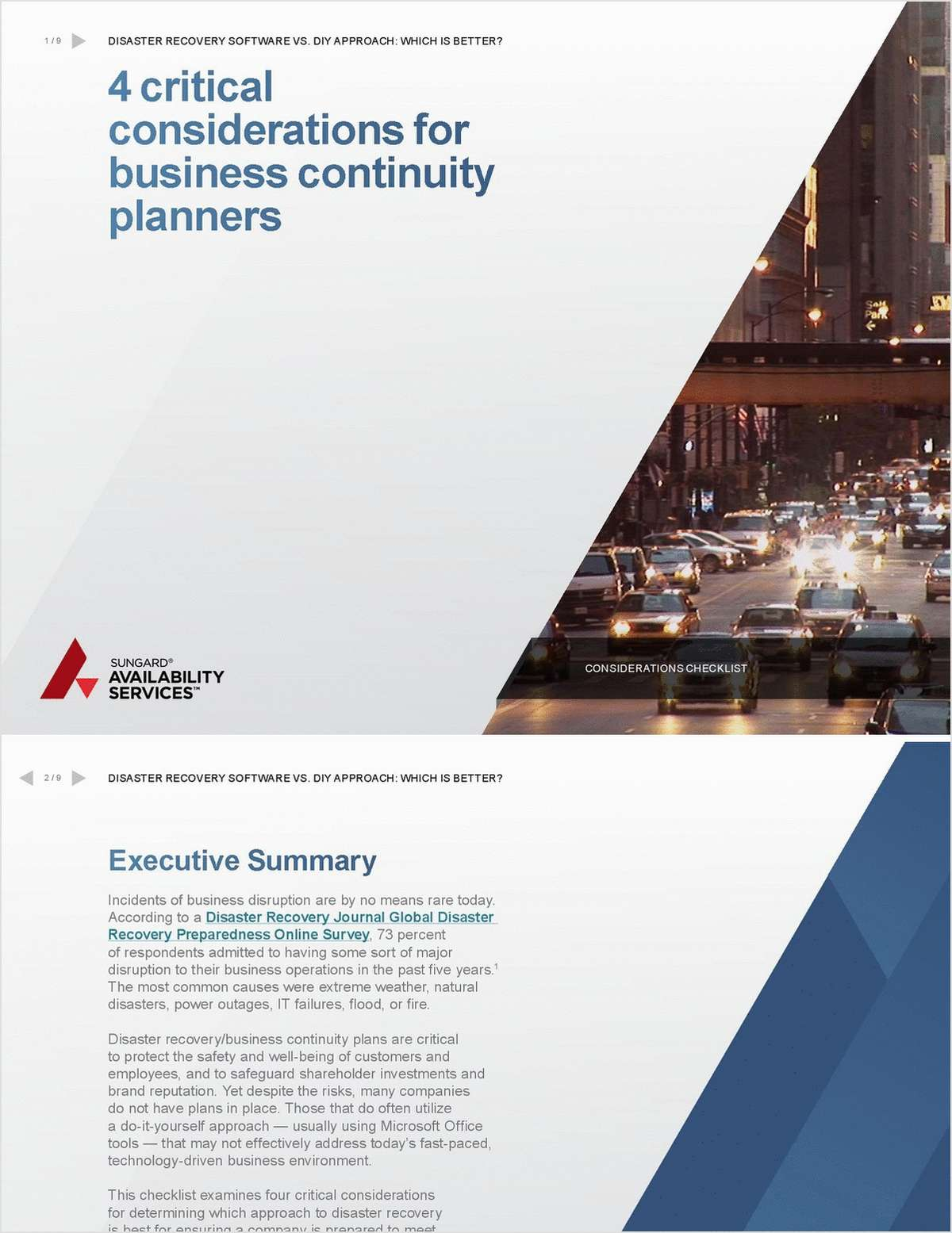 Four Critical Considerations for Determining the Best Business Continuity Plan Approach