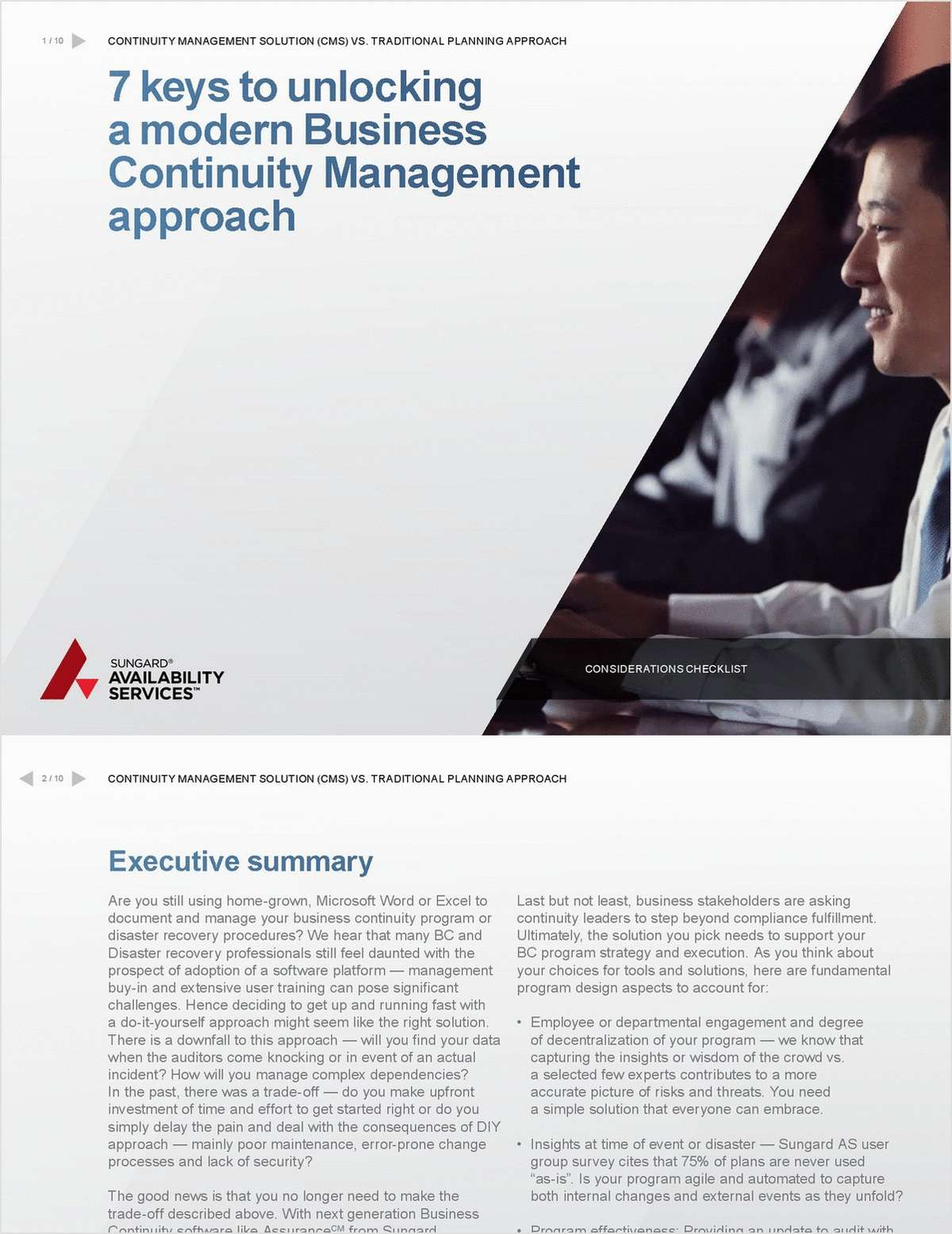 7 Keys to Unlocking a Modern Business Continuity Management Approach