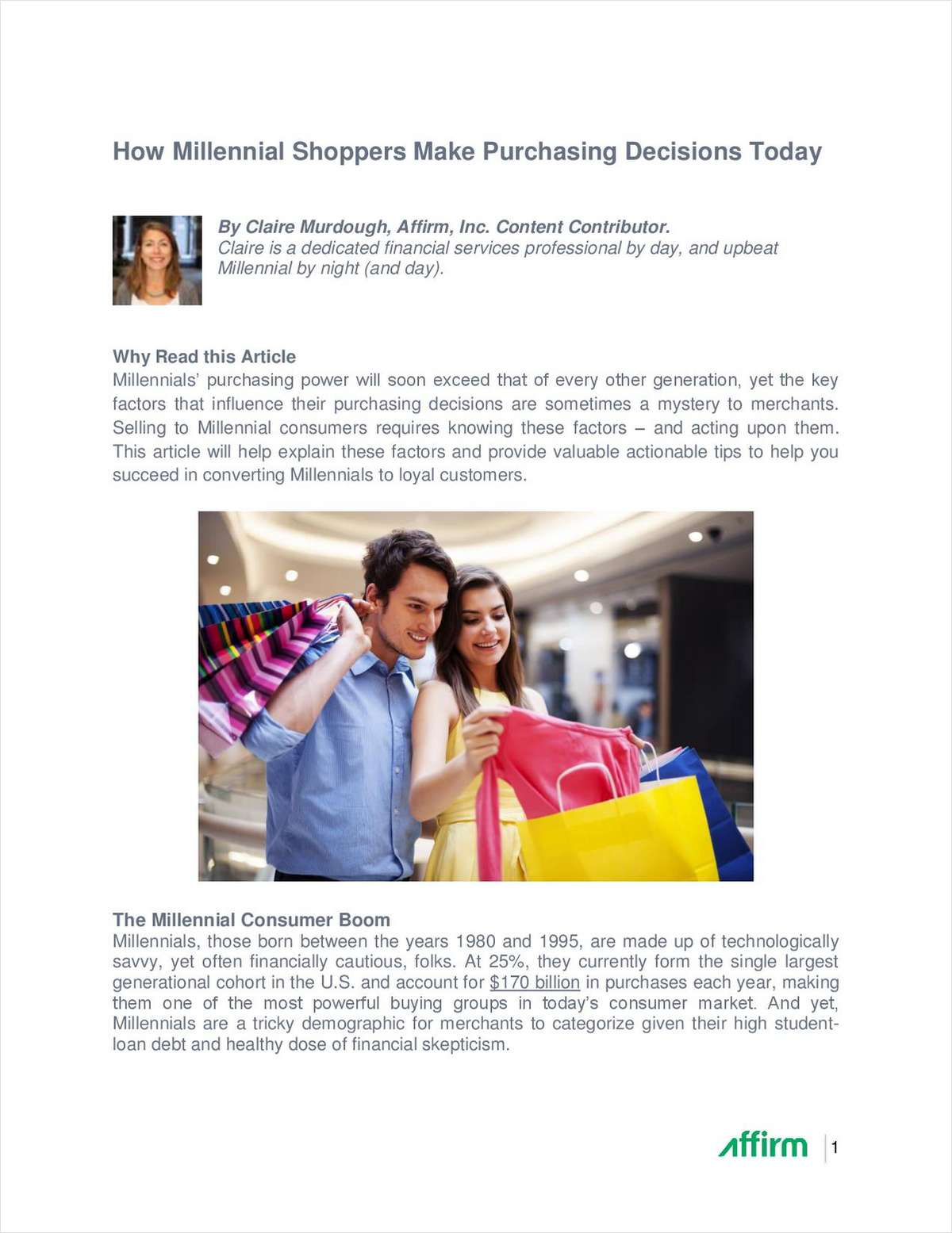 How Millennial Shoppers Make Purchase Decisions Today