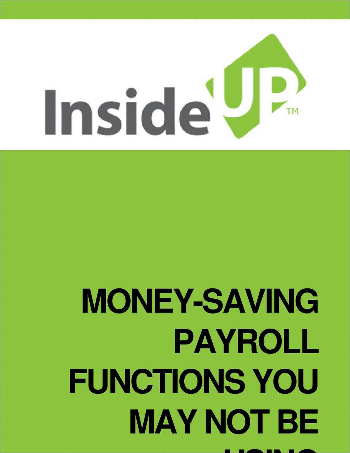 Money-Saving Payroll Functions You May Not Be Using