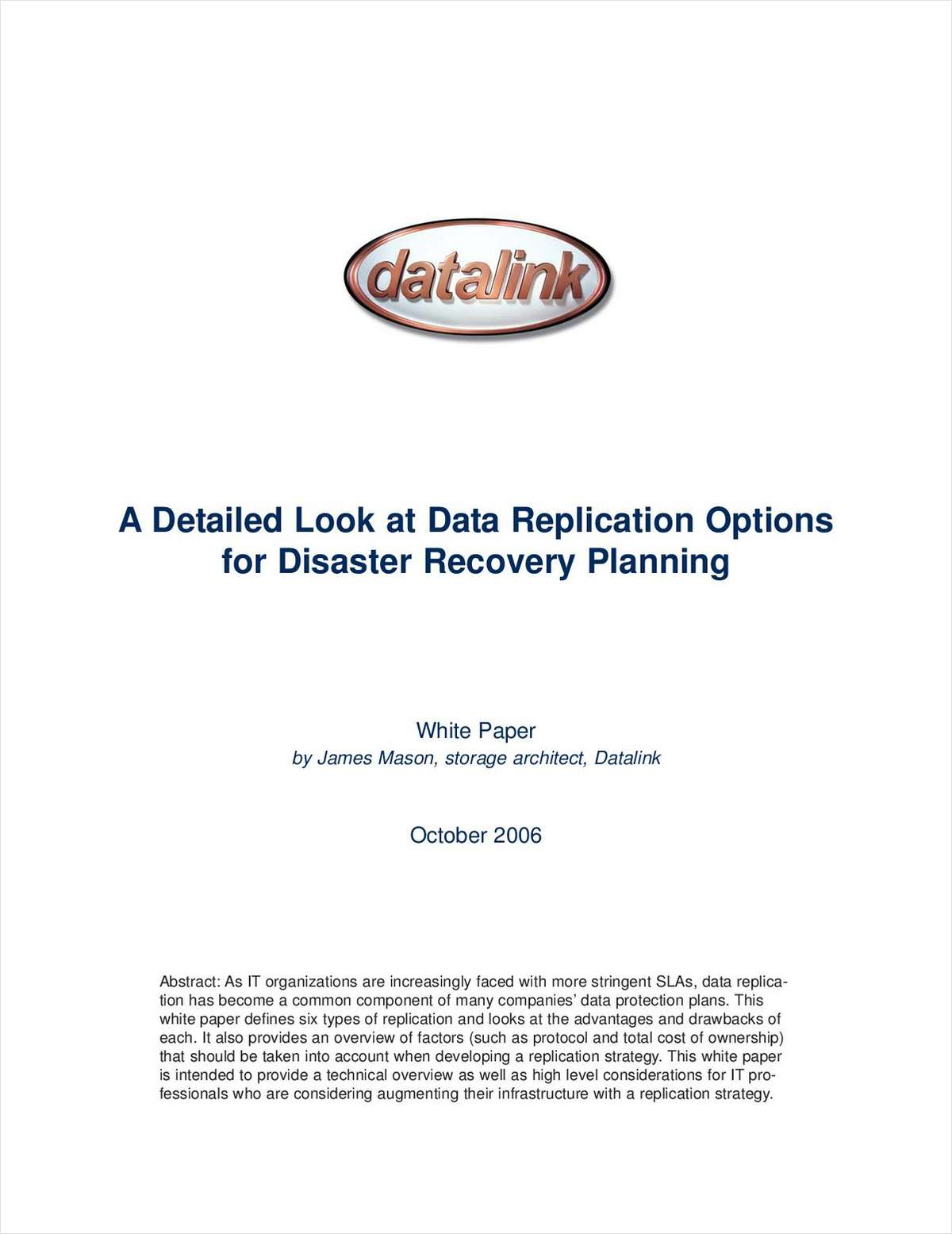 A Detailed Look at Data Replication Options for Disaster Recovery Planning