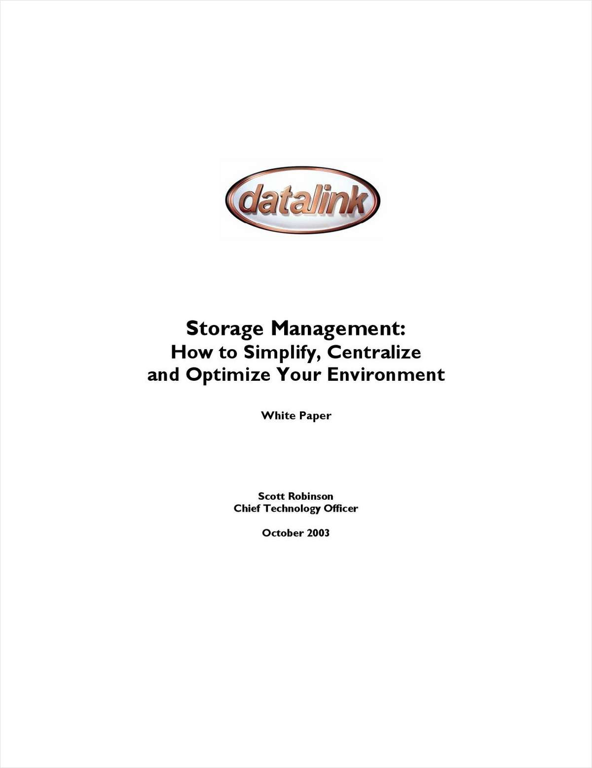 Storage Management: How to Simplify, Centralize and Optimize Your Environment