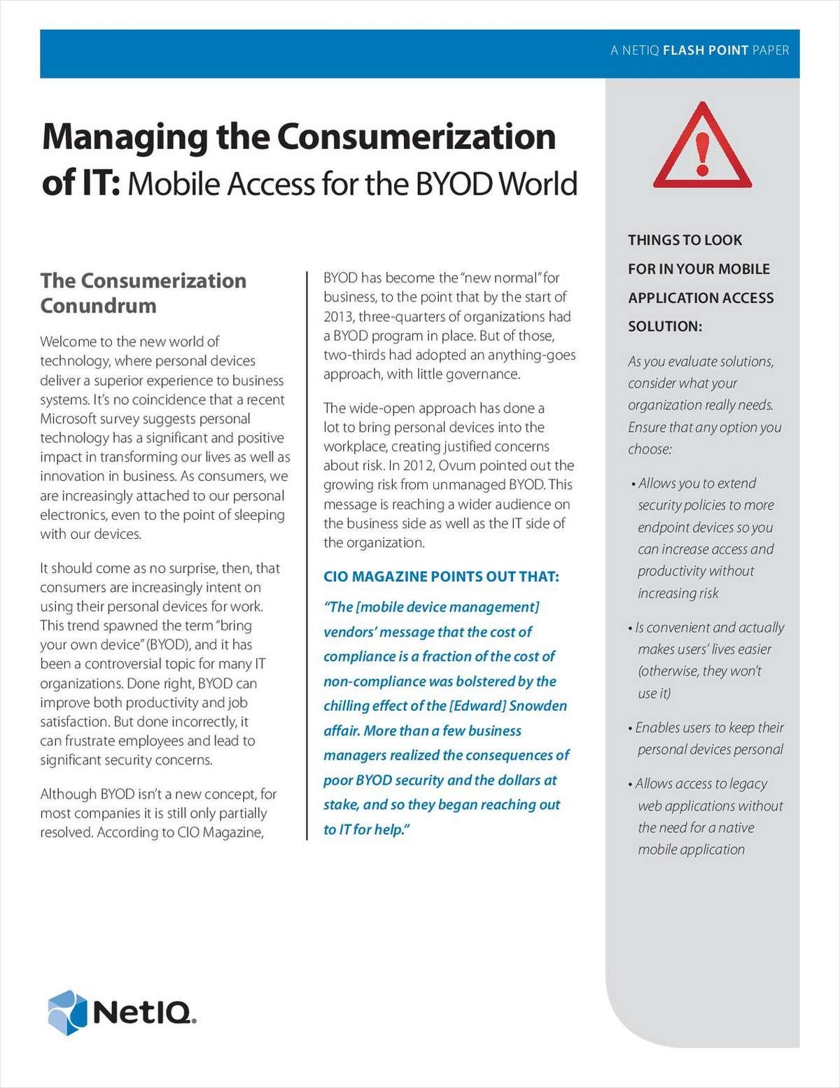 Managing the Consumerization of IT