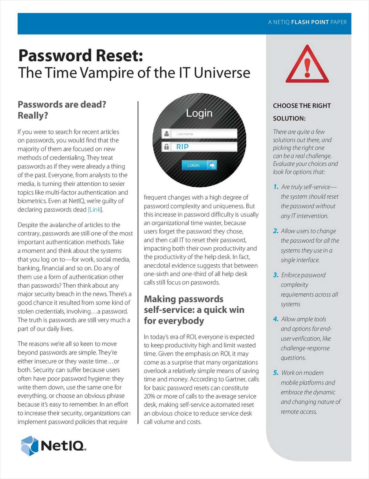 Password Reset: The Time Vampire of the IT Universe