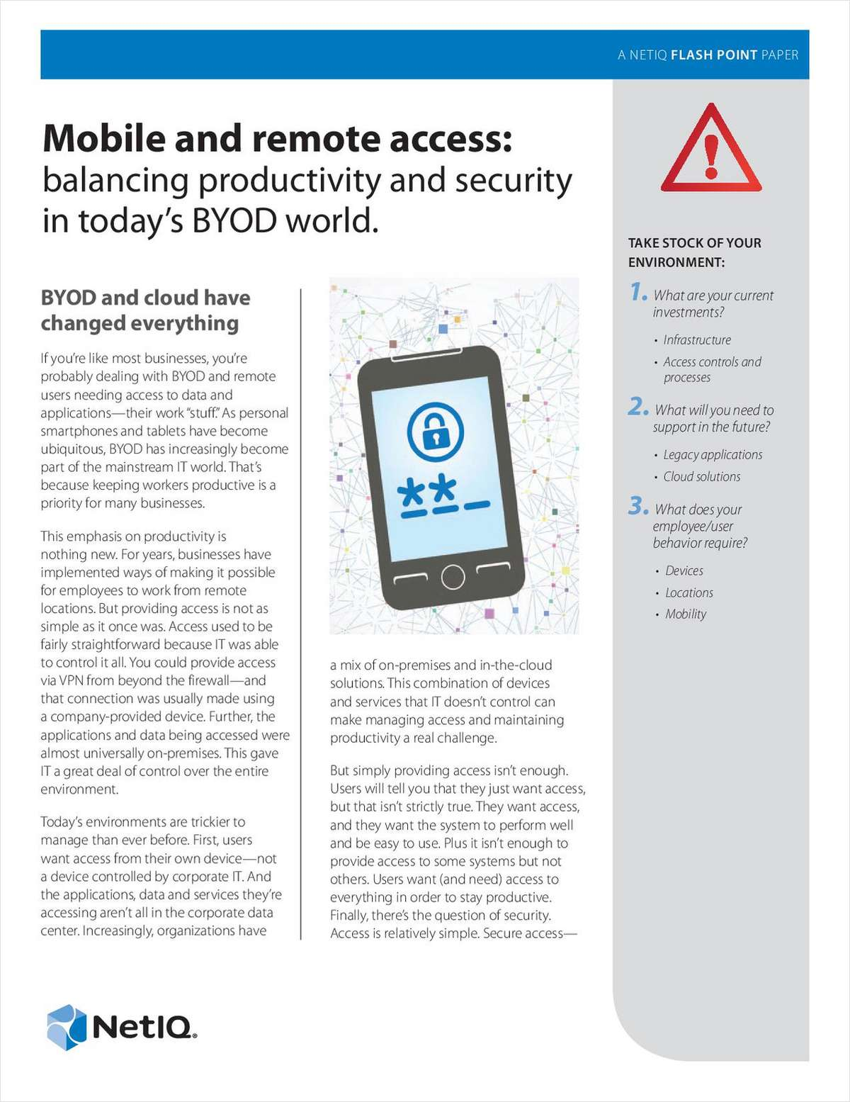 Mobile and Remote Access: Balancing Convenience and Security