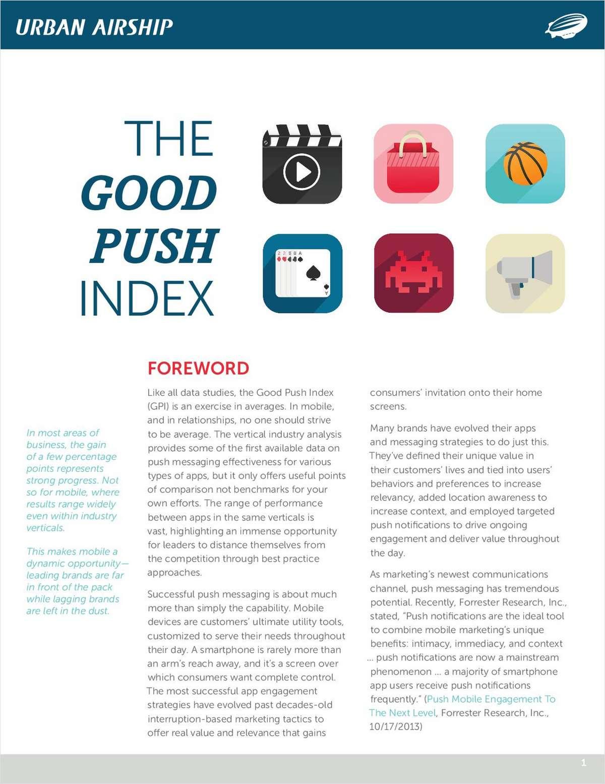The Good Push Index