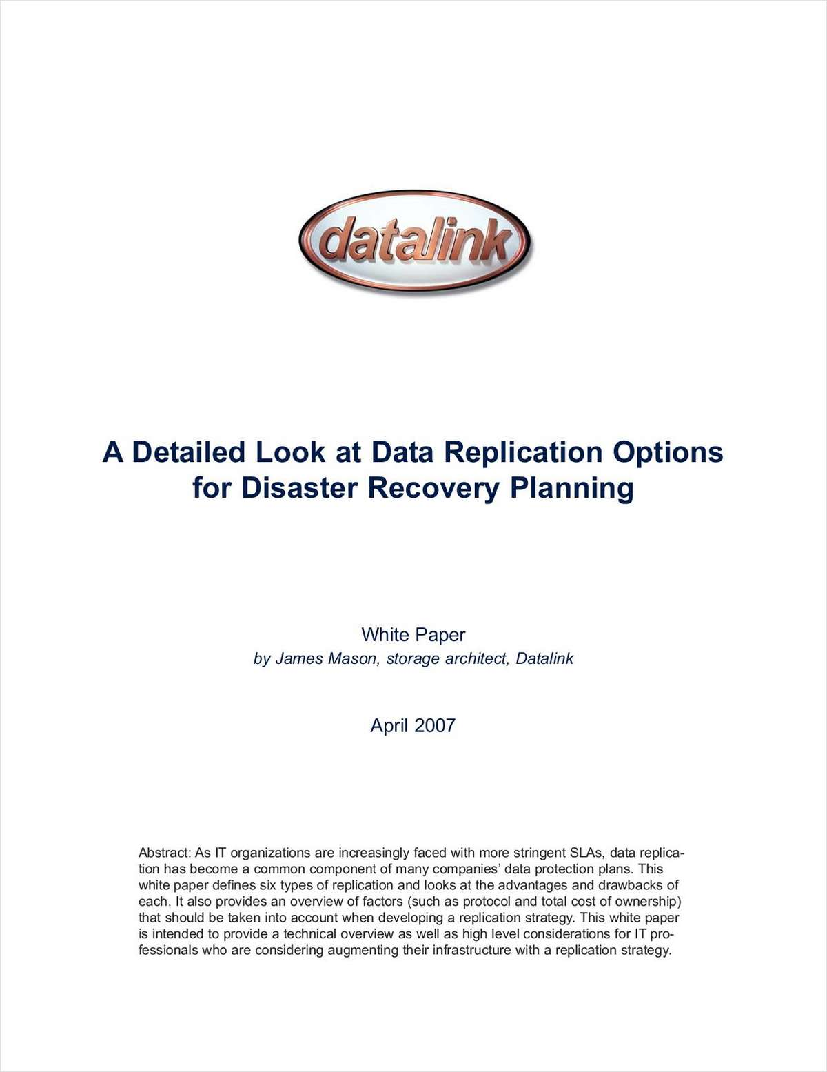 A Detailed Look at Data Replication Options for DR Planning