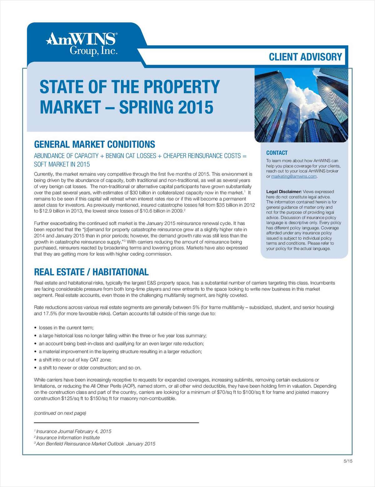 Client Advisory: Property Market Update
