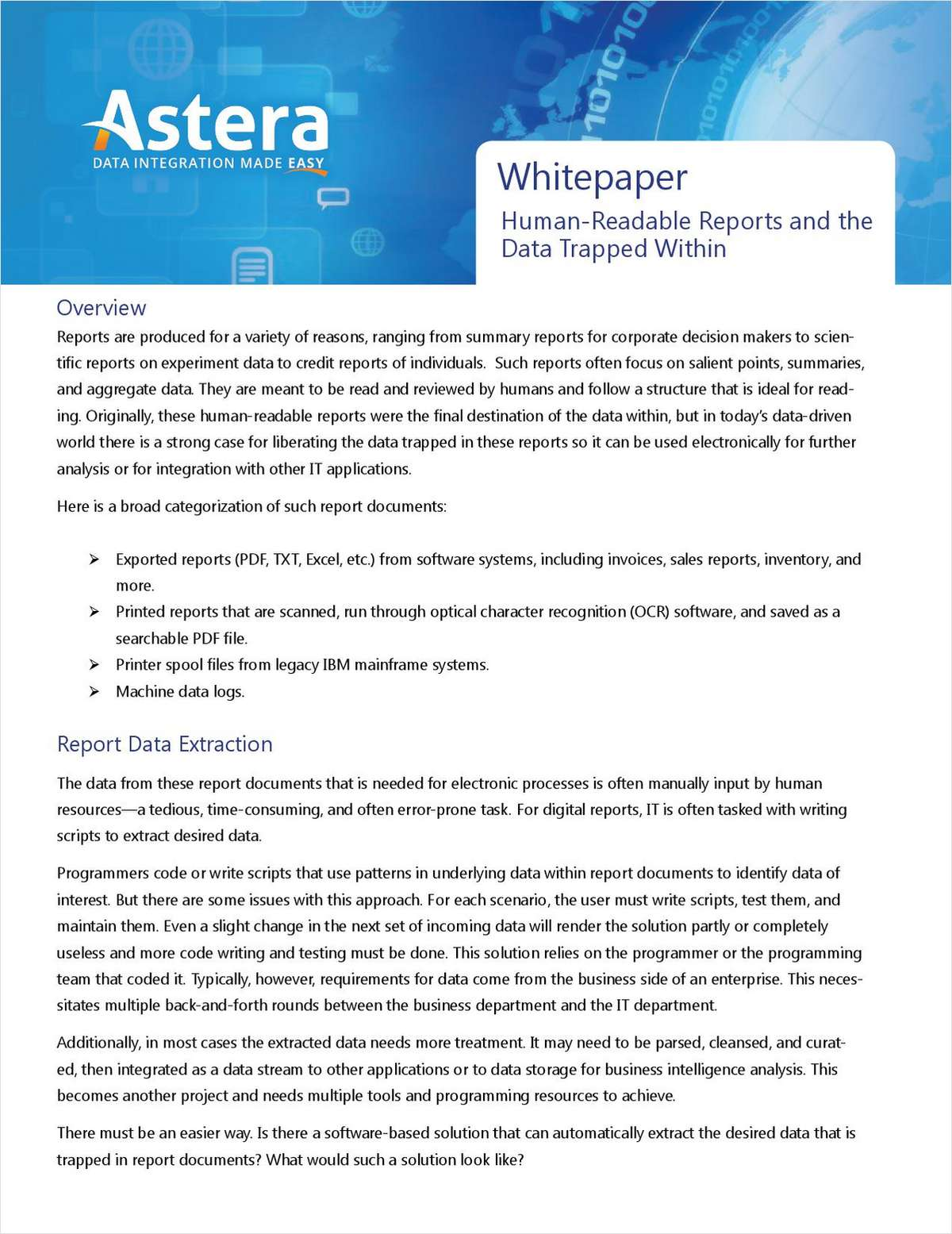 Human-Readable Reports and the Data Trapped Within