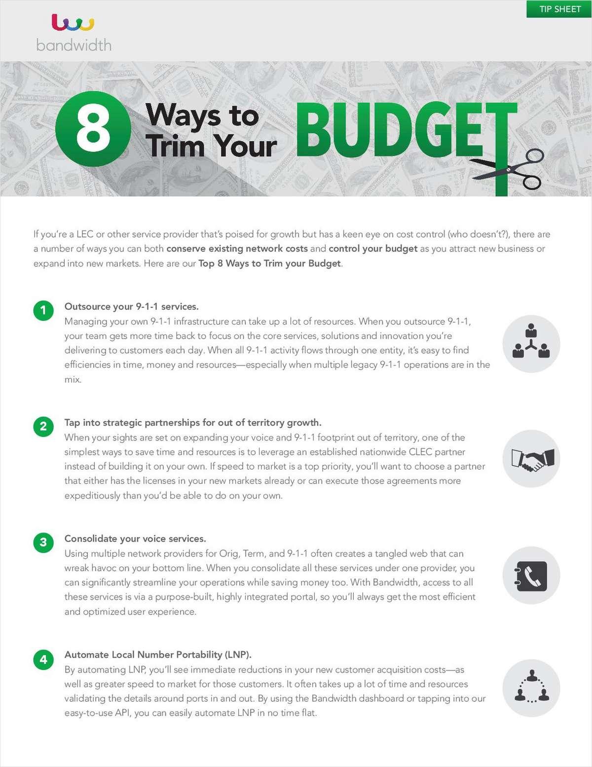 8 Ways to Trim Your Budget