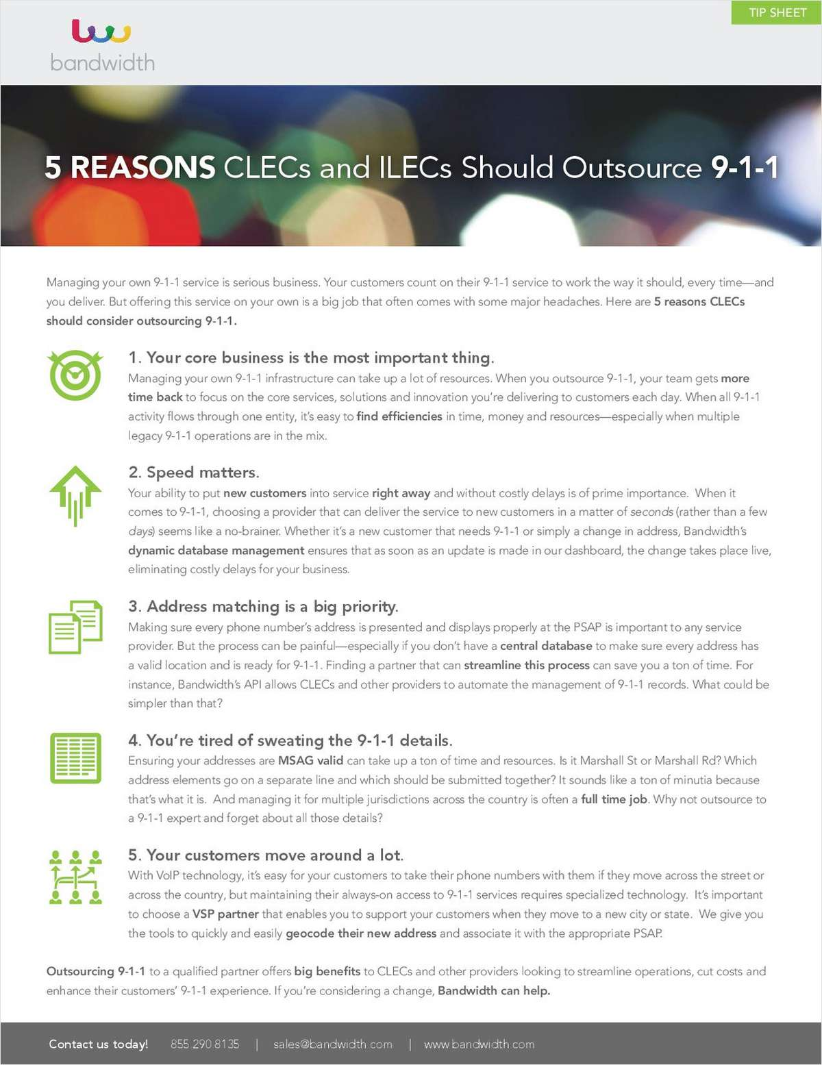 5 Reasons CLECs and ILECS Should Outsource 9-1-1