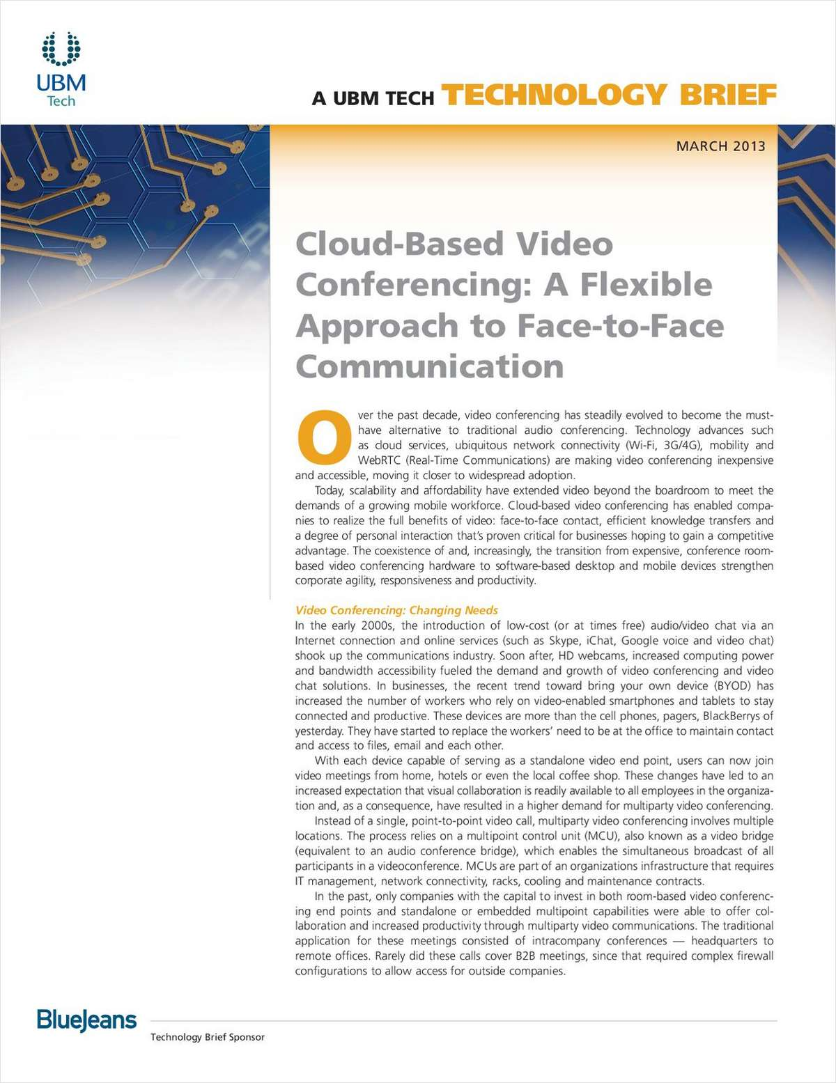 Cloud-Based Video Conferencing: A Flexible Approach to Face-to-Face Communication