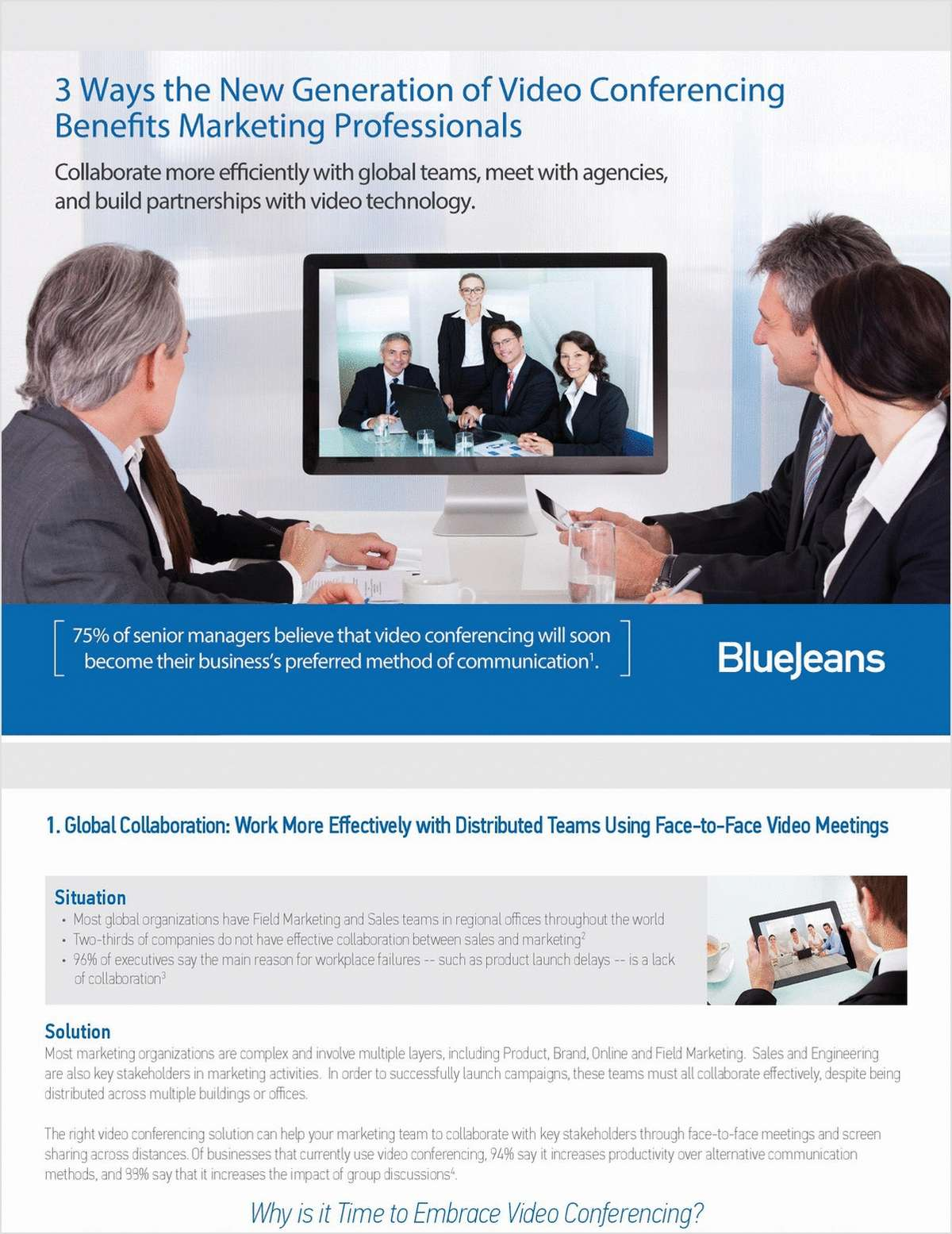 3 Ways the New Generation of Video Conferencing Benefits Marketing Professionals