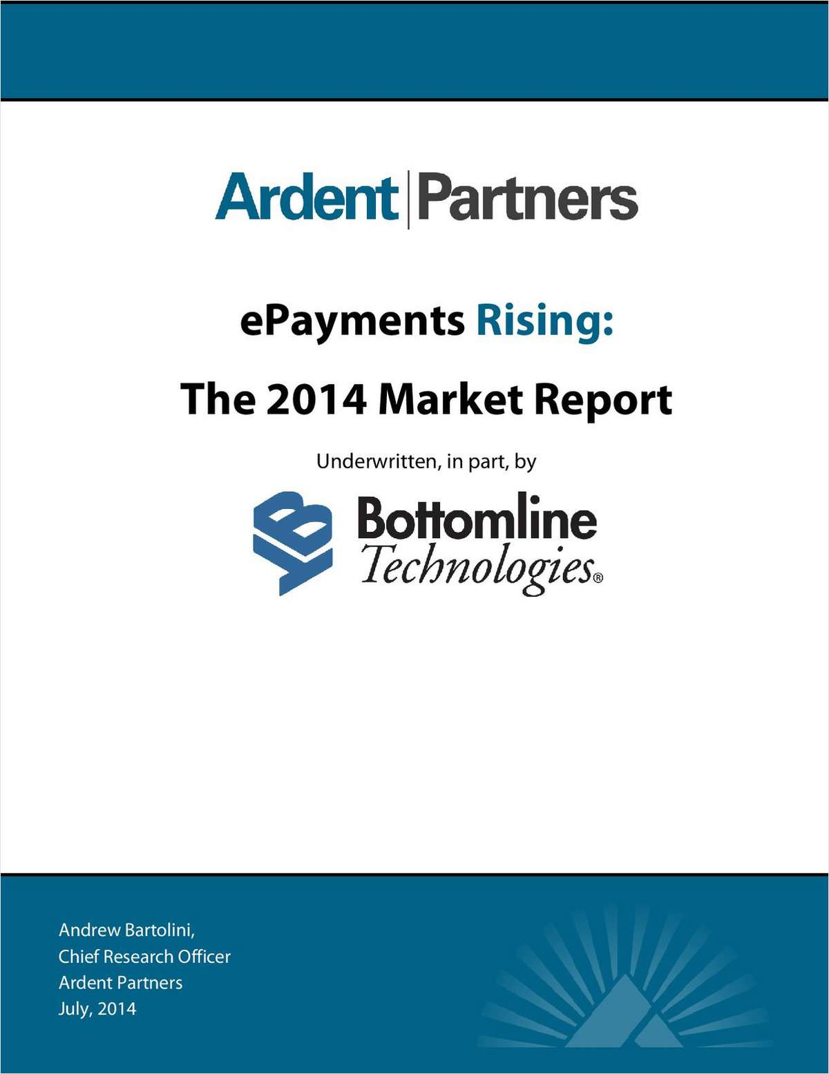 ePayments Rising: The 2014 Market Report on B2B Payments