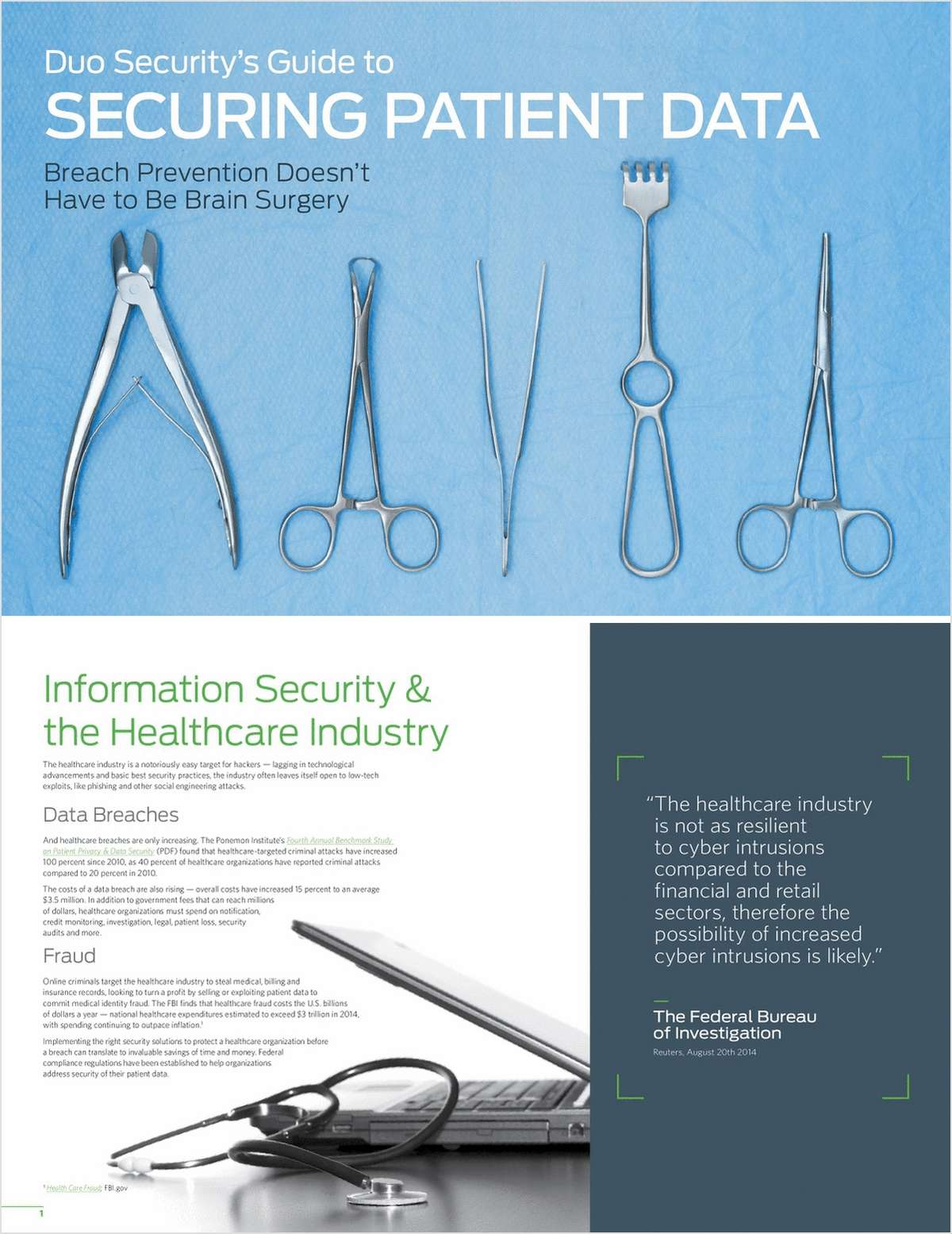Duo Security's Guide to Securing Patient Data: Breach Prevention Doesn't Have to Be Brain Surgery
