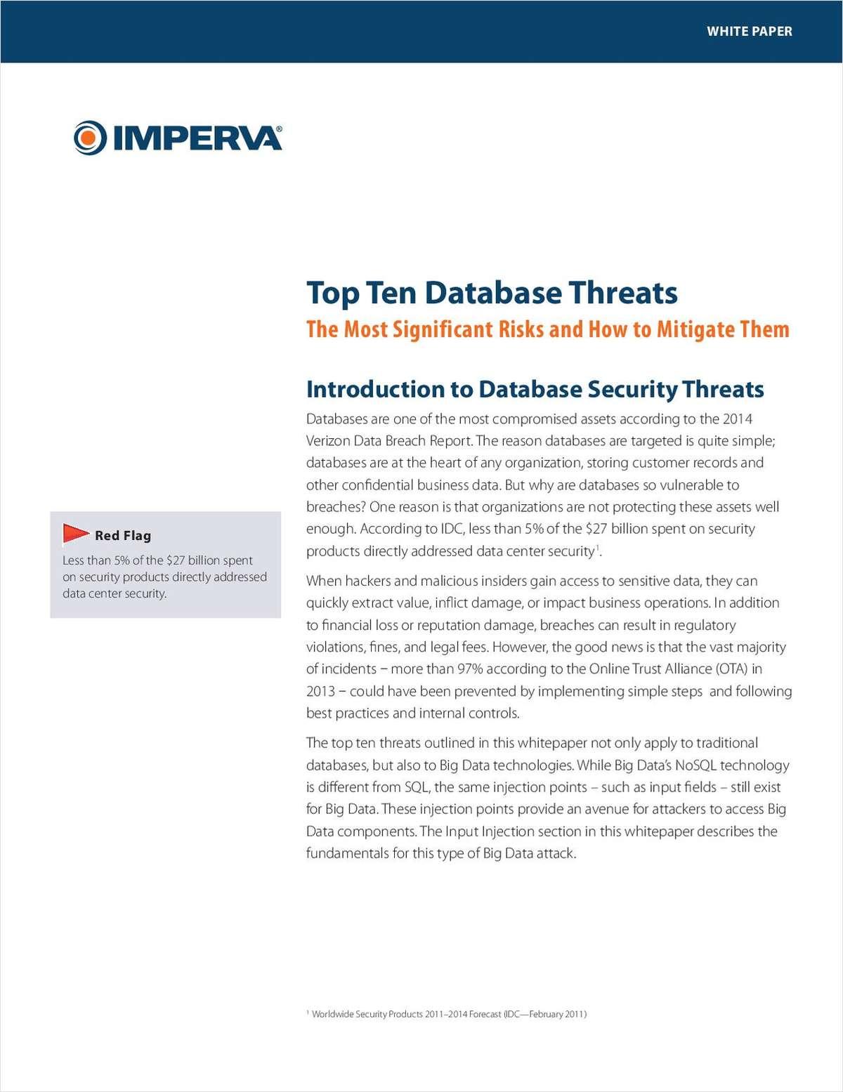 Top 10 Database Threats