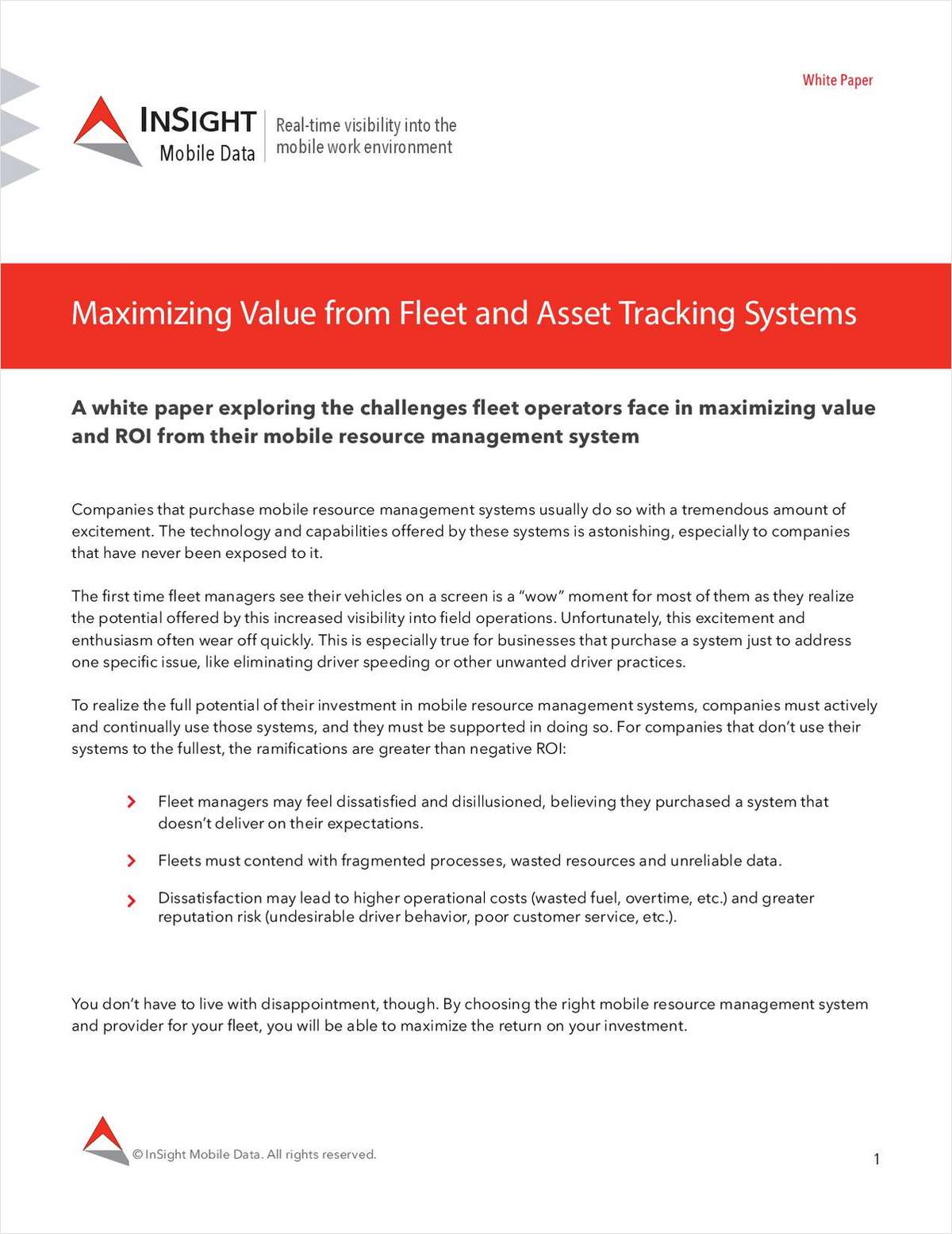 Maximizing Value from Fleet and Asset Tracking Systems