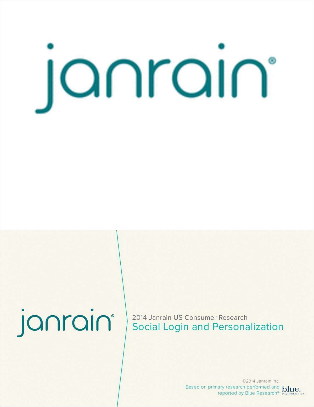 2014 Janrain US Consumer Research: Social Login and Personalization