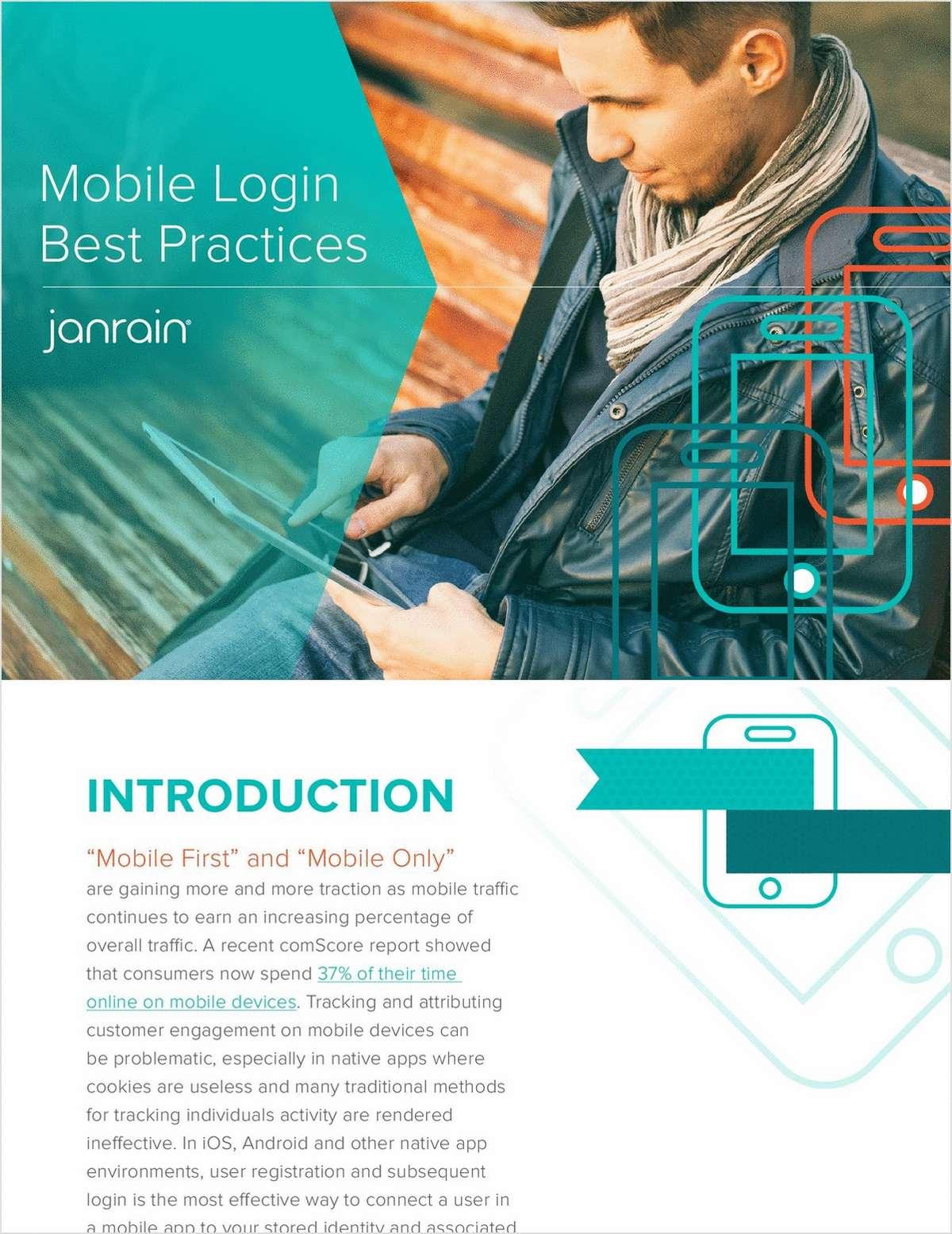Mobile Login Best Practices