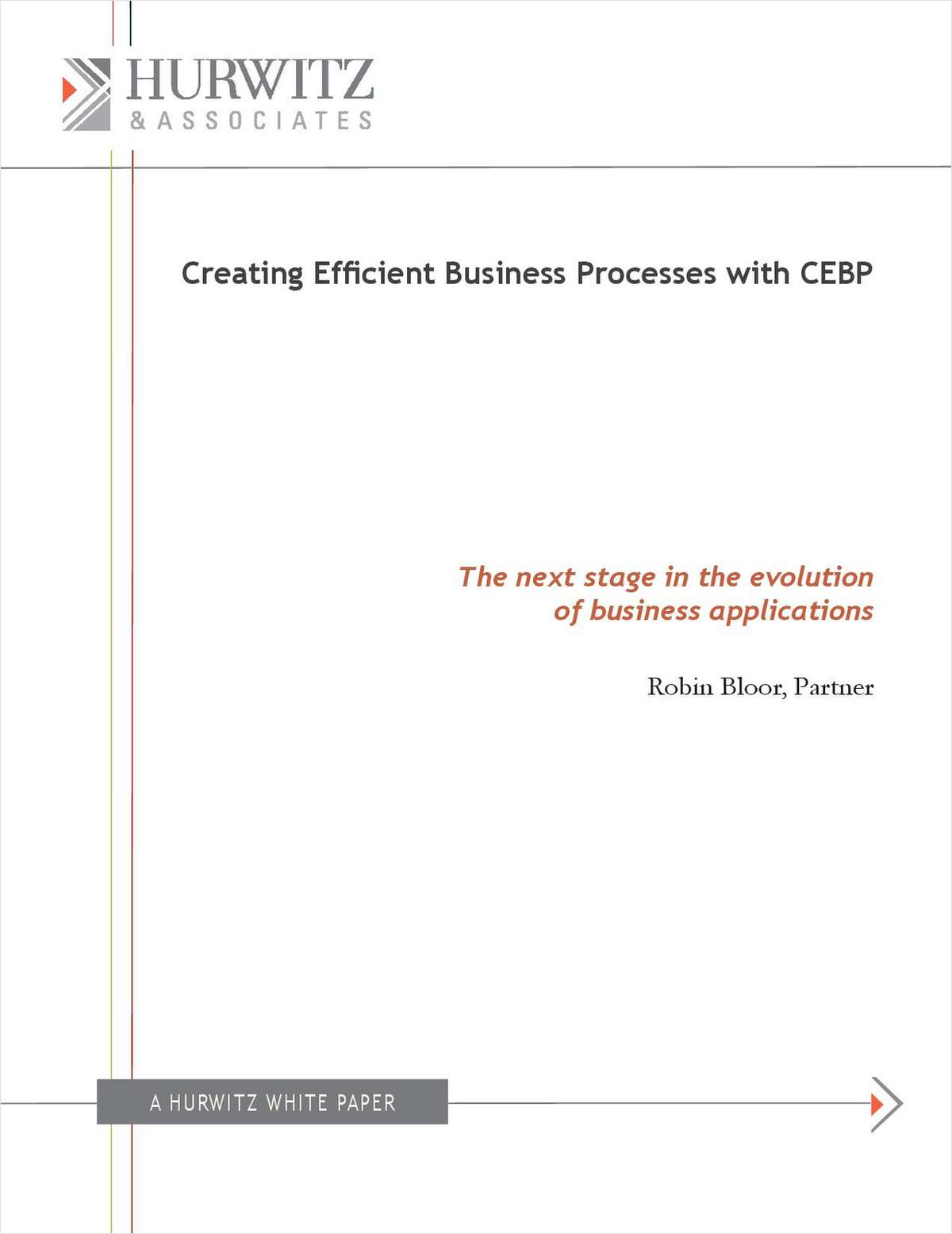 Creating Efficient Business Processes with CEBP - The next stage in the evolution of business applications